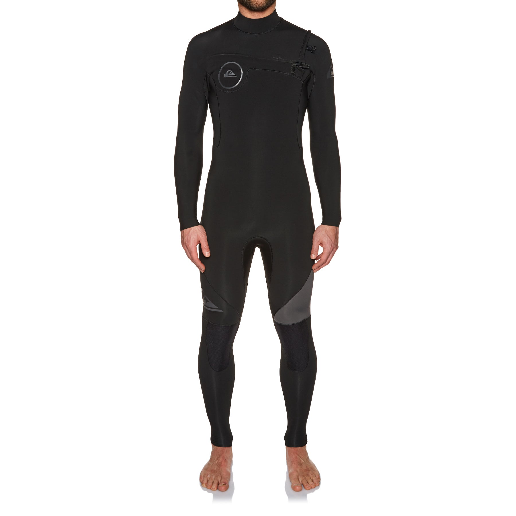 Quiksilver Syncro 3/2mm 2018 Chest Zip Wetsuit - Jet Black