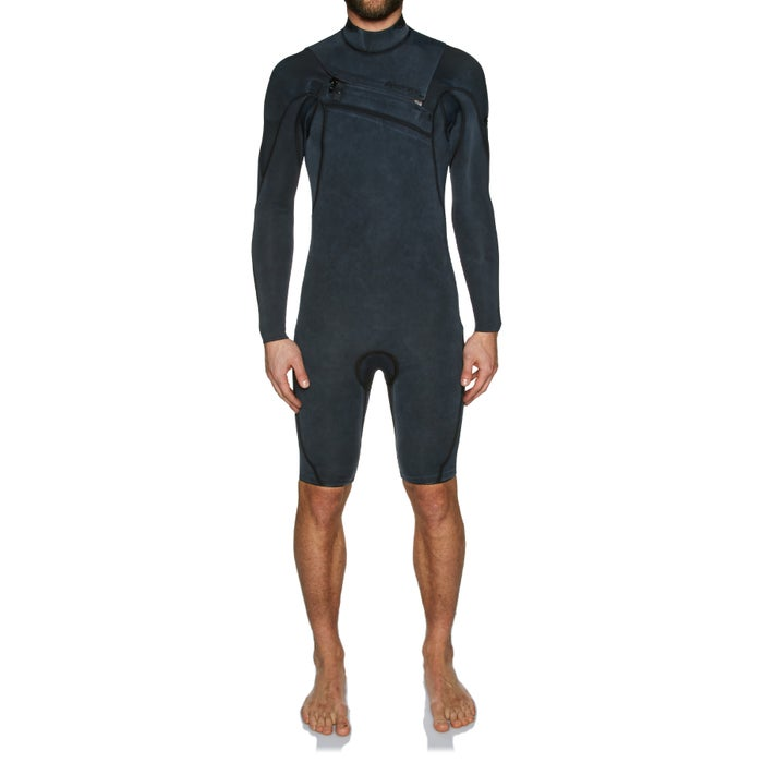 Quiksilver Monochrome 2mm 2018 Chest Zip Long Sleeve Shorty Wetsuit