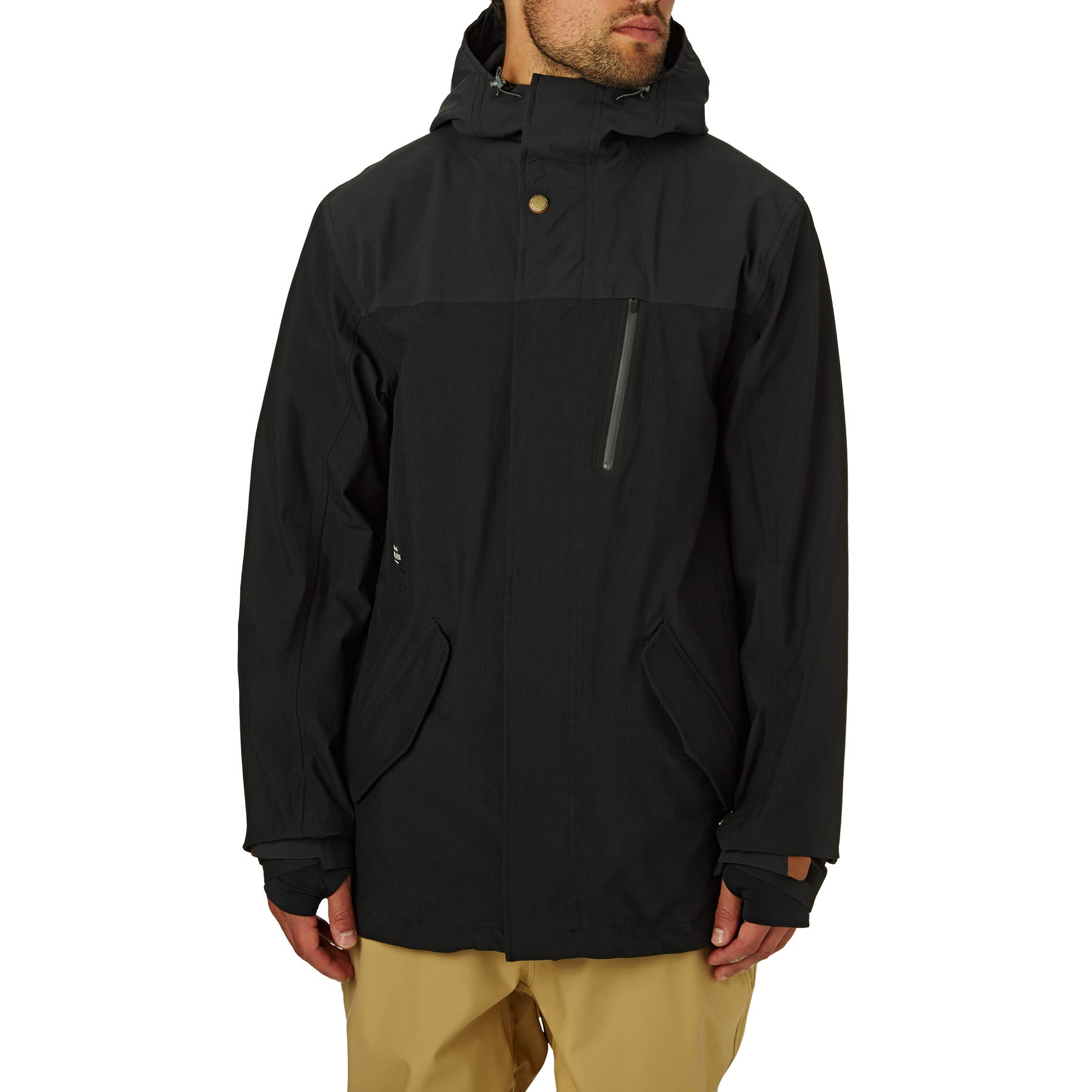 Holden M51 Fishtail Snow Jacket - Black