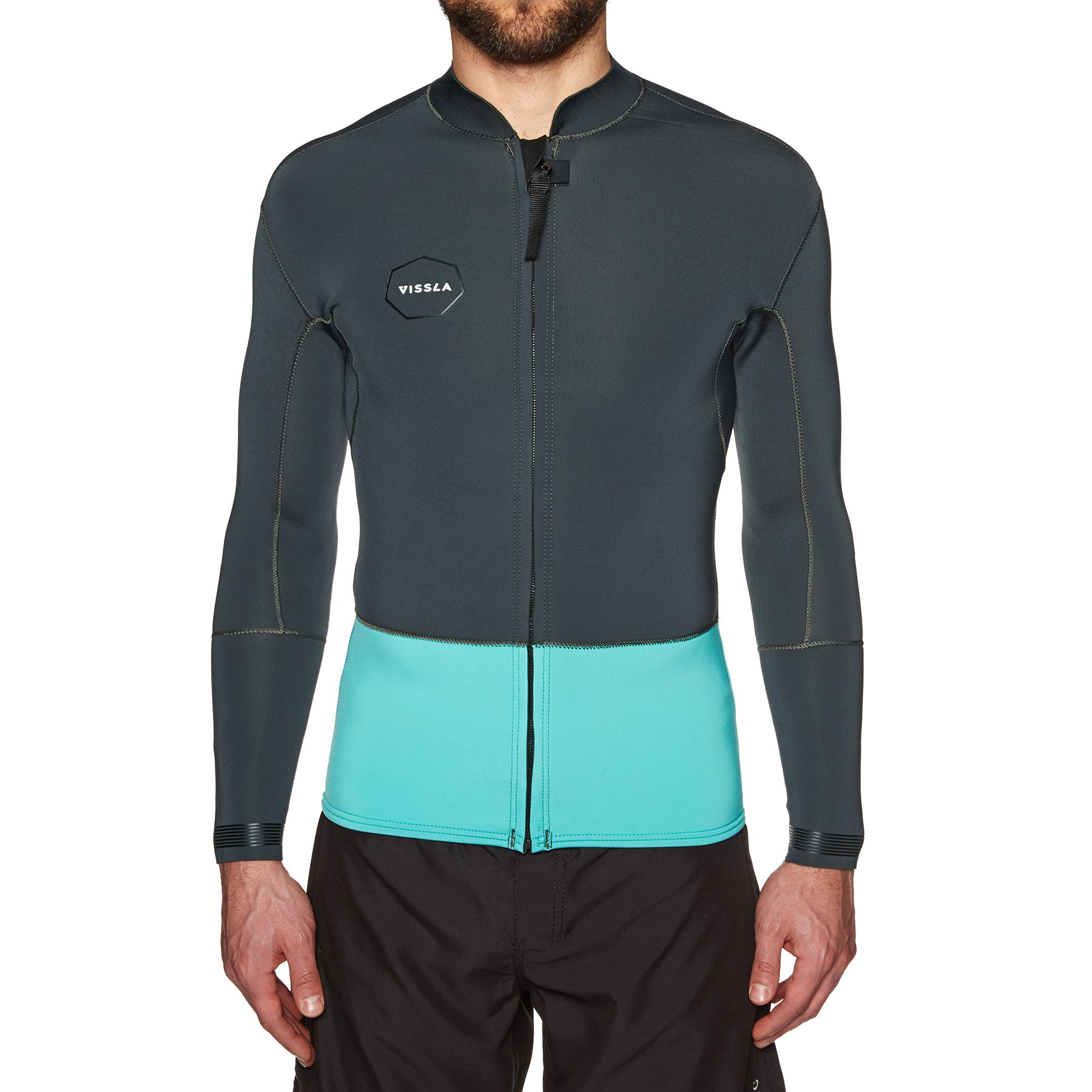 Vissla 2mm Front Zip Long Sleeve Wetsuit - Phantom