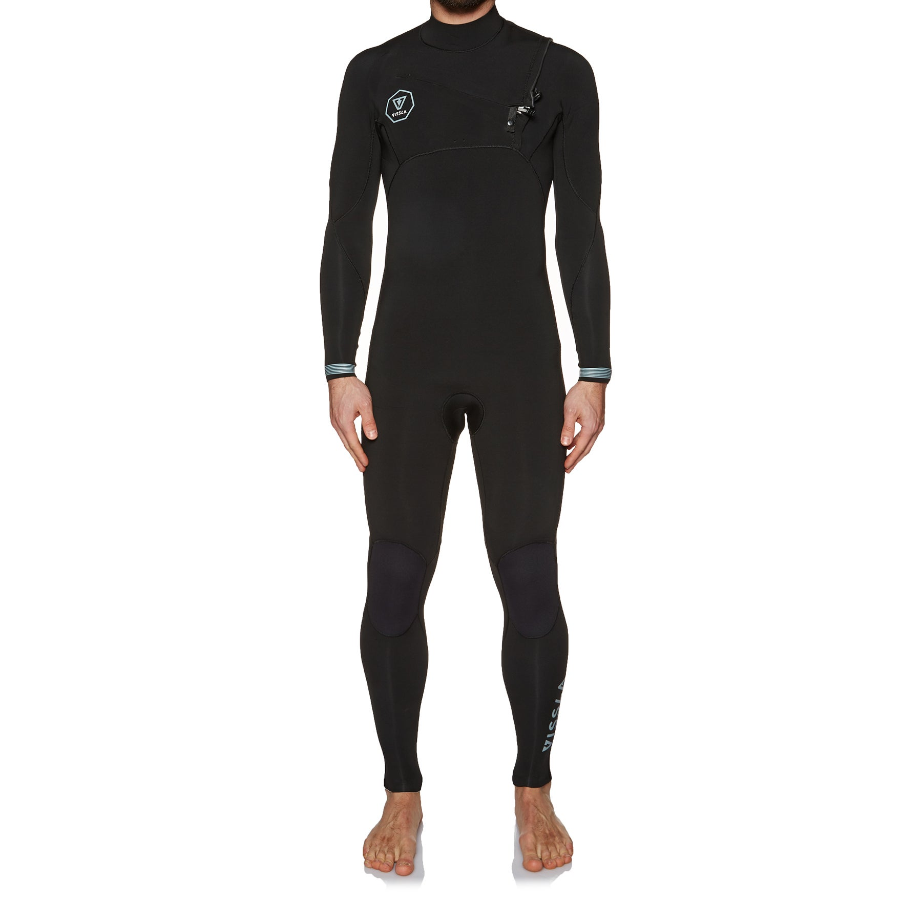 Vissla 7 Seas 2mm 2018 Chest Zip Wetsuit - Black Fade