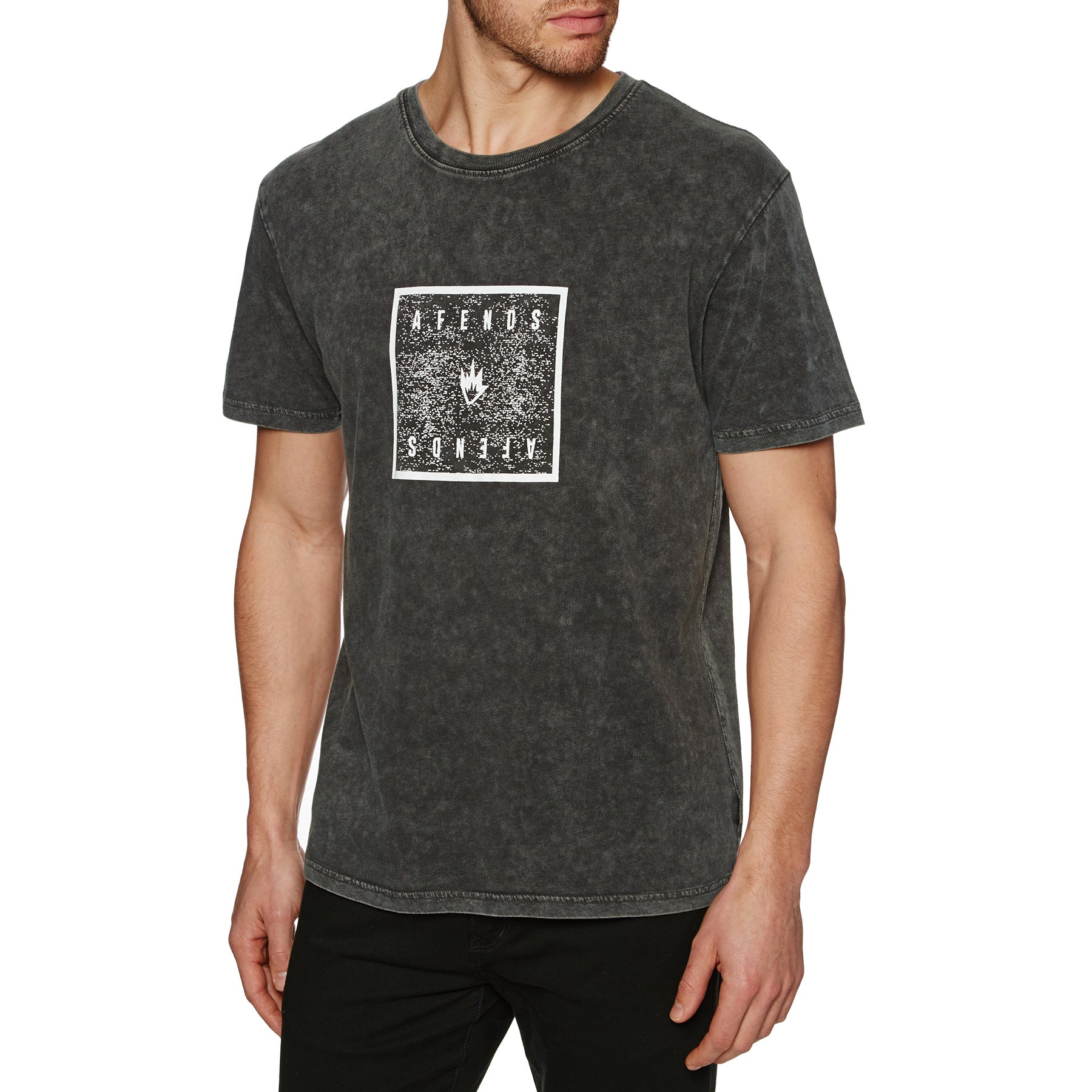 Afends Noise Short Sleeve T-Shirt - Black Acid Wash