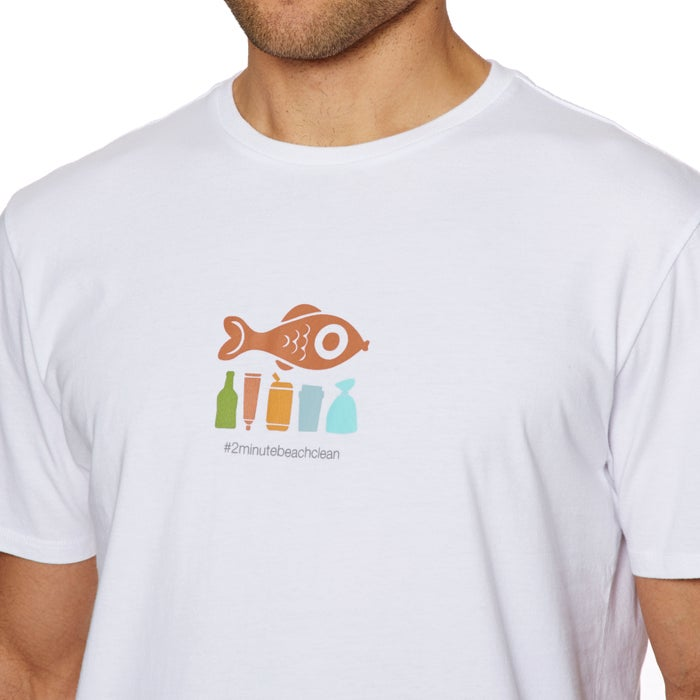 2 Minute Beach Clean Mens Kurzarm-T-Shirt