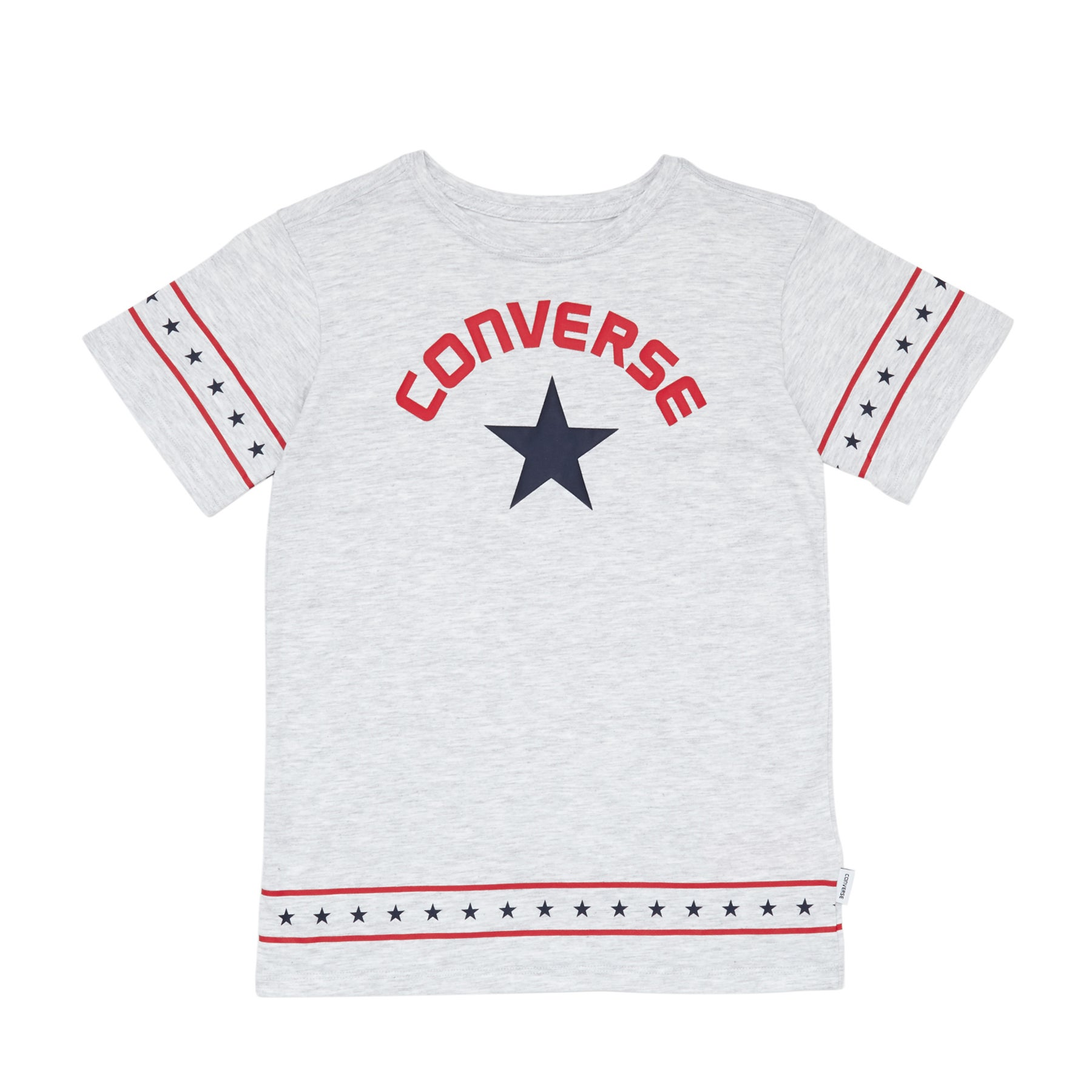 Camiseta de manga corta Girls Converse Star Trim - Lunar Rock Heather