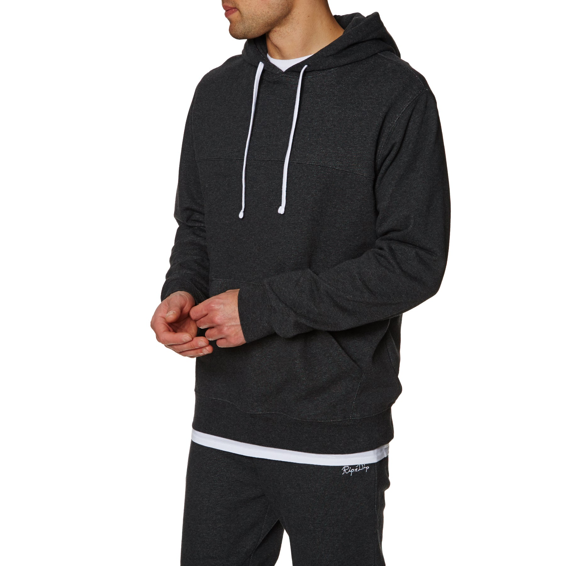 Rip N Dip Jogger Embroidered Pullover Hoody - Charcoal Heather