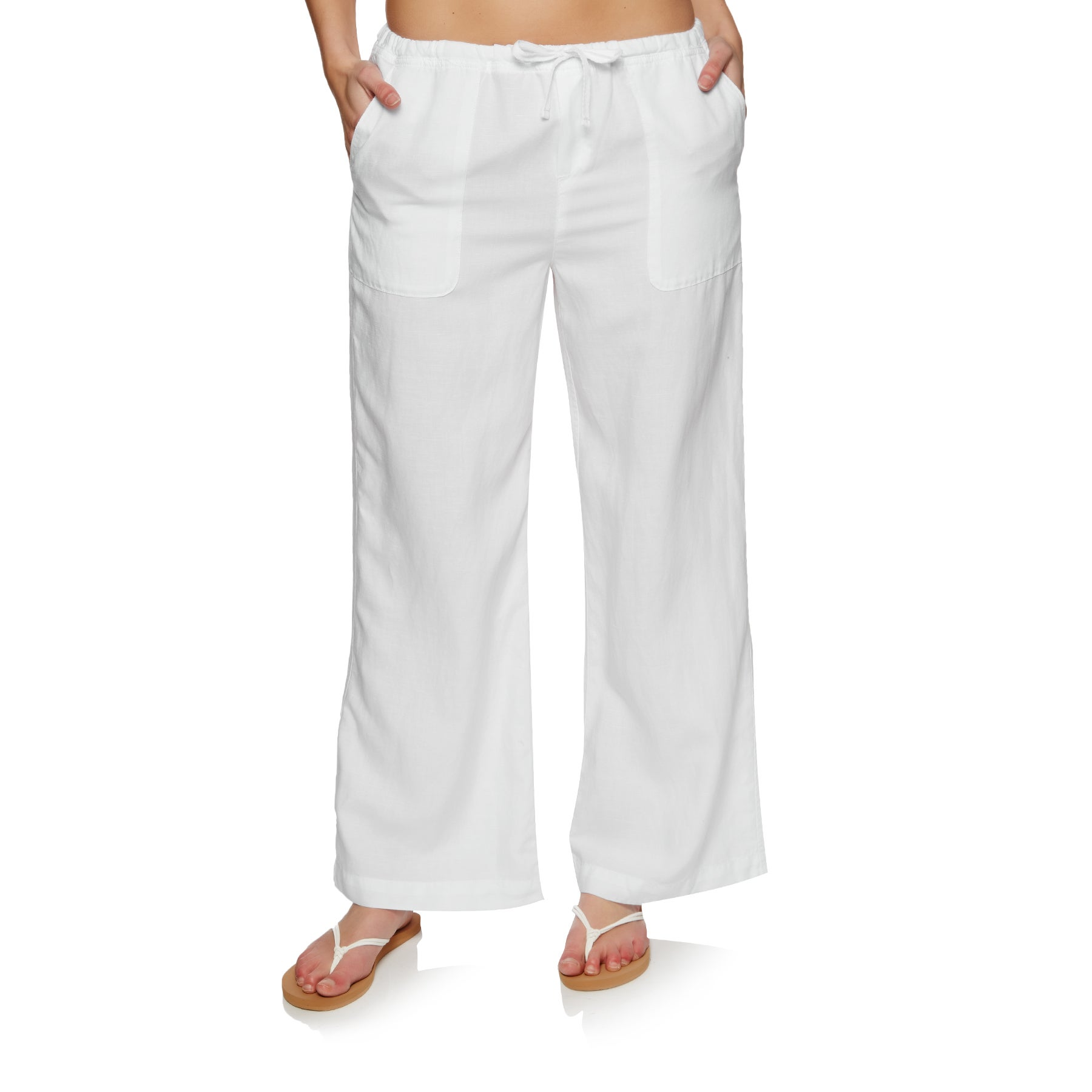 Pantalon Femme Seafolly Wide Leg Beach - White