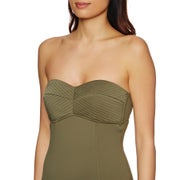 Seafolly Quilted Bandeau Maillot Womens 水着