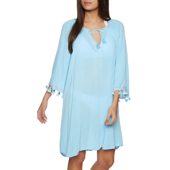 Robe Seafolly Tassel Trim Cover Up