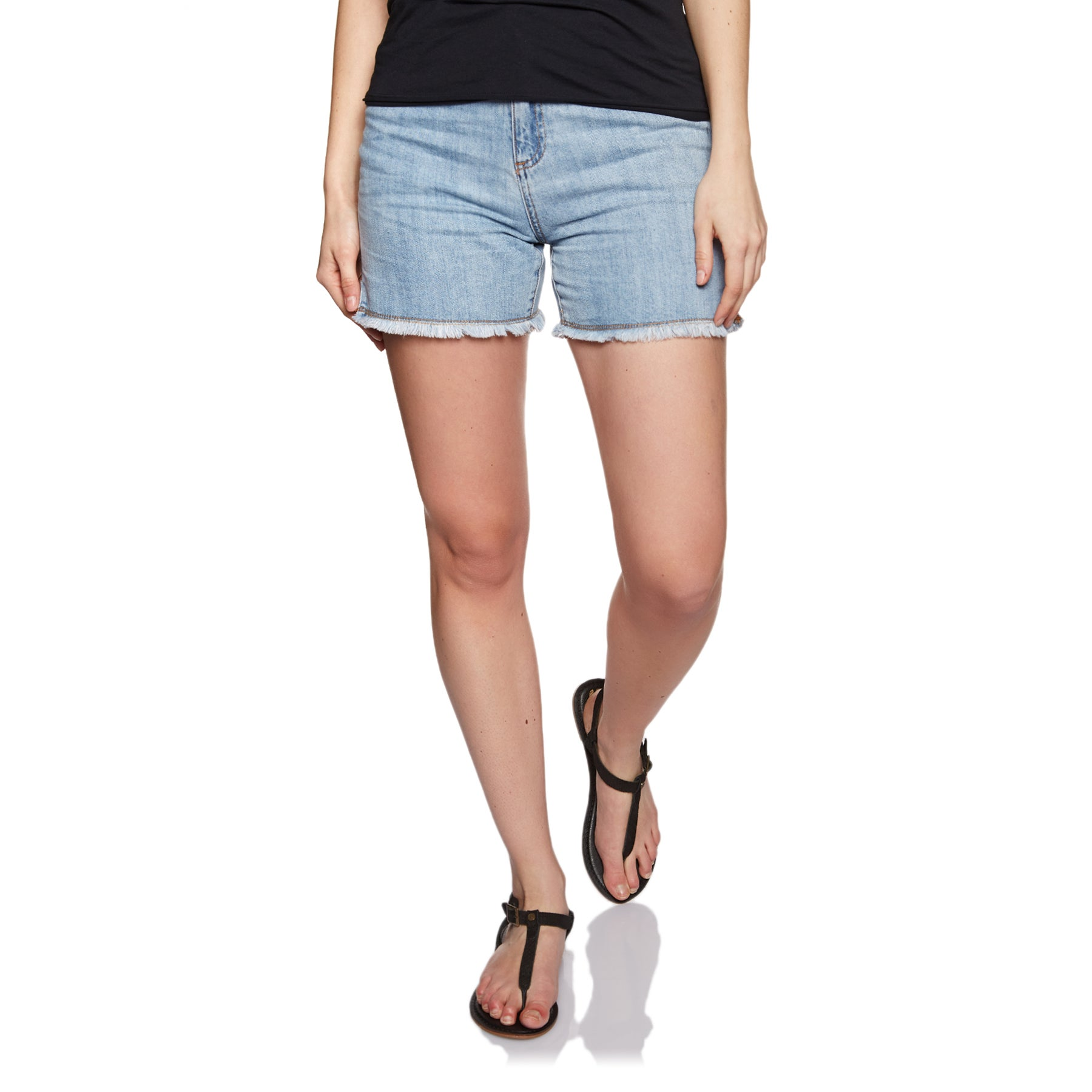 Shorts Femme Seafolly Denim Boyfriend - Pale Wash Indigo
