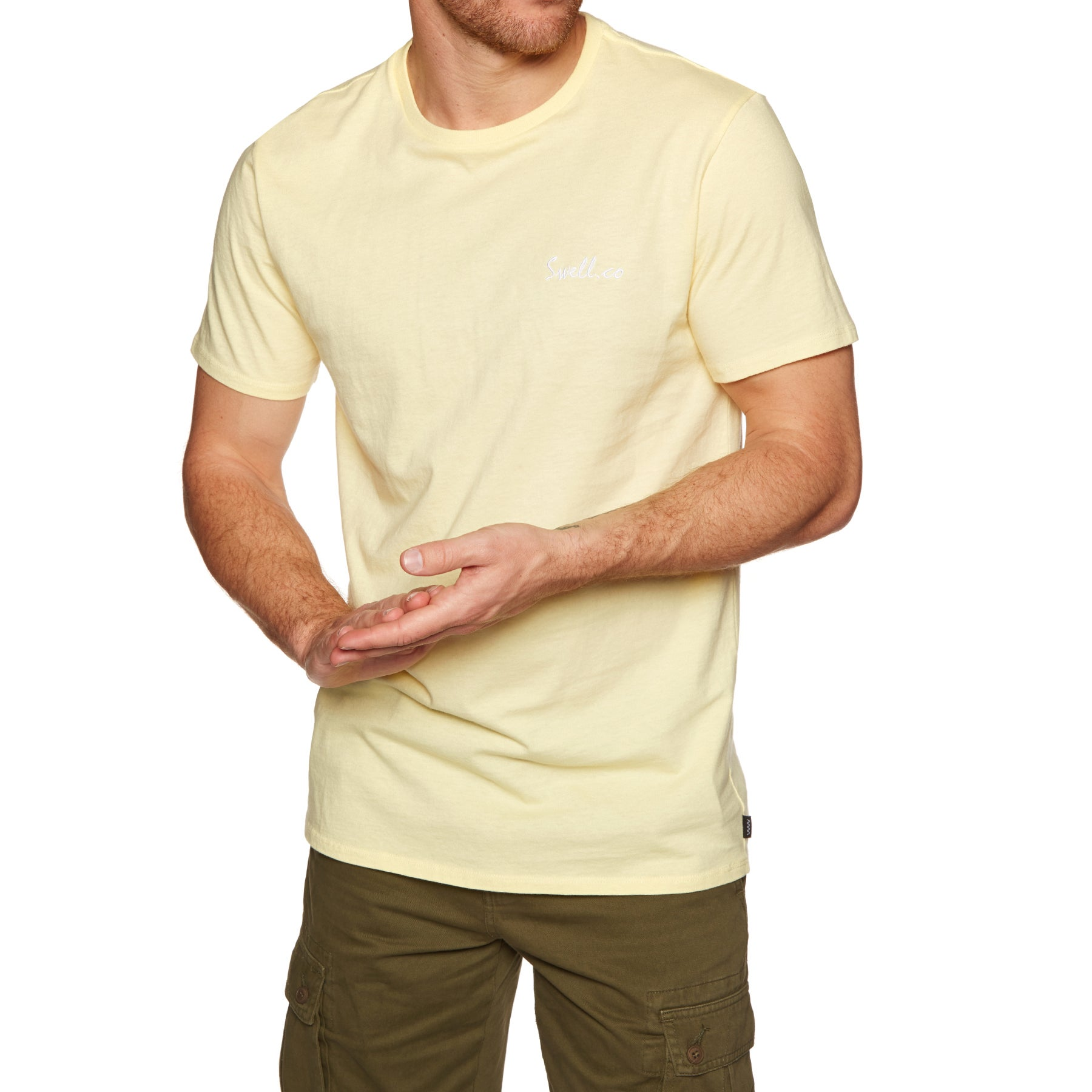 SWELL Swellco Short Sleeve T-Shirt - Washed Yellow