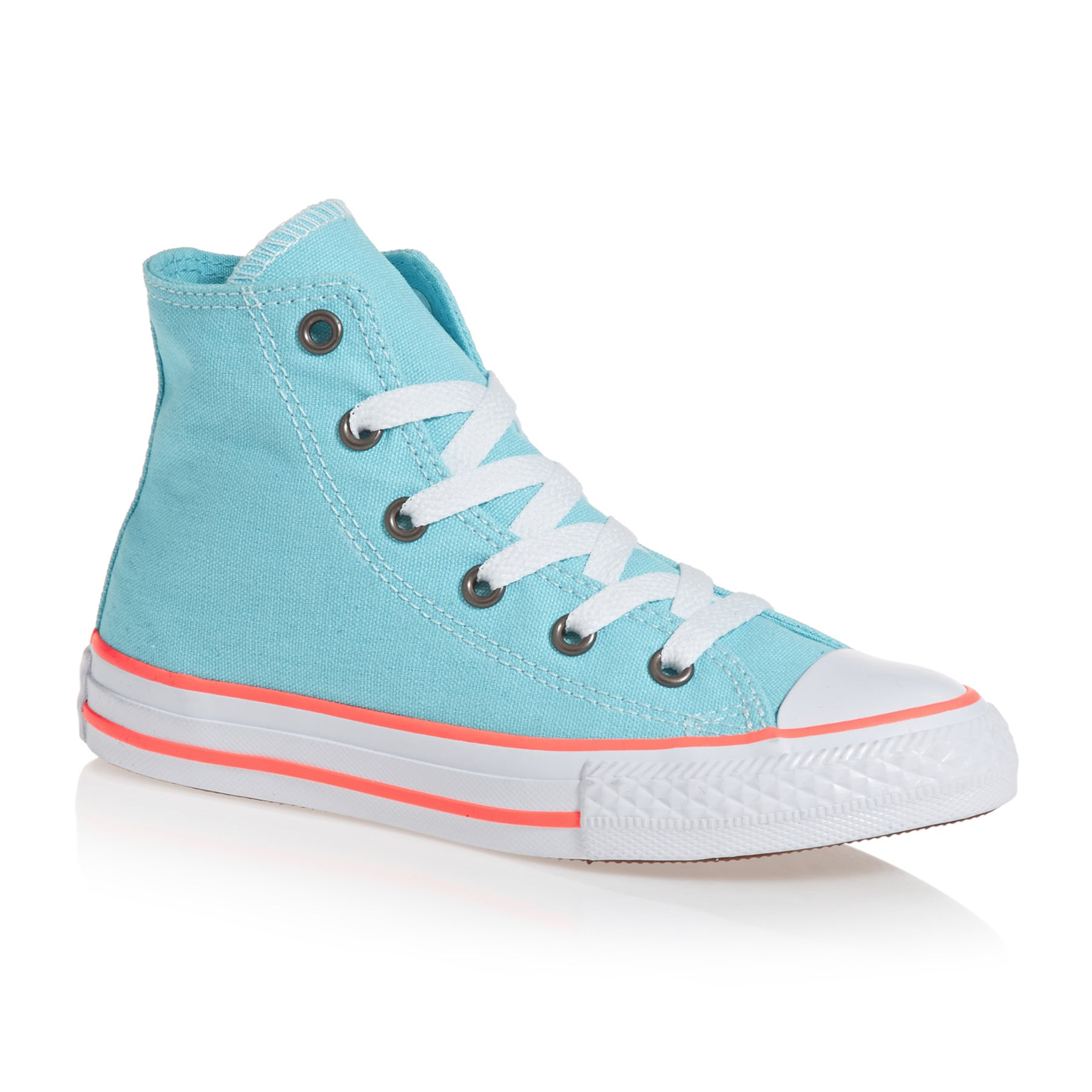 Chaussures Converse Chuck Taylor All Star Hi Junior - Bleached Aqua/crimson Pulse