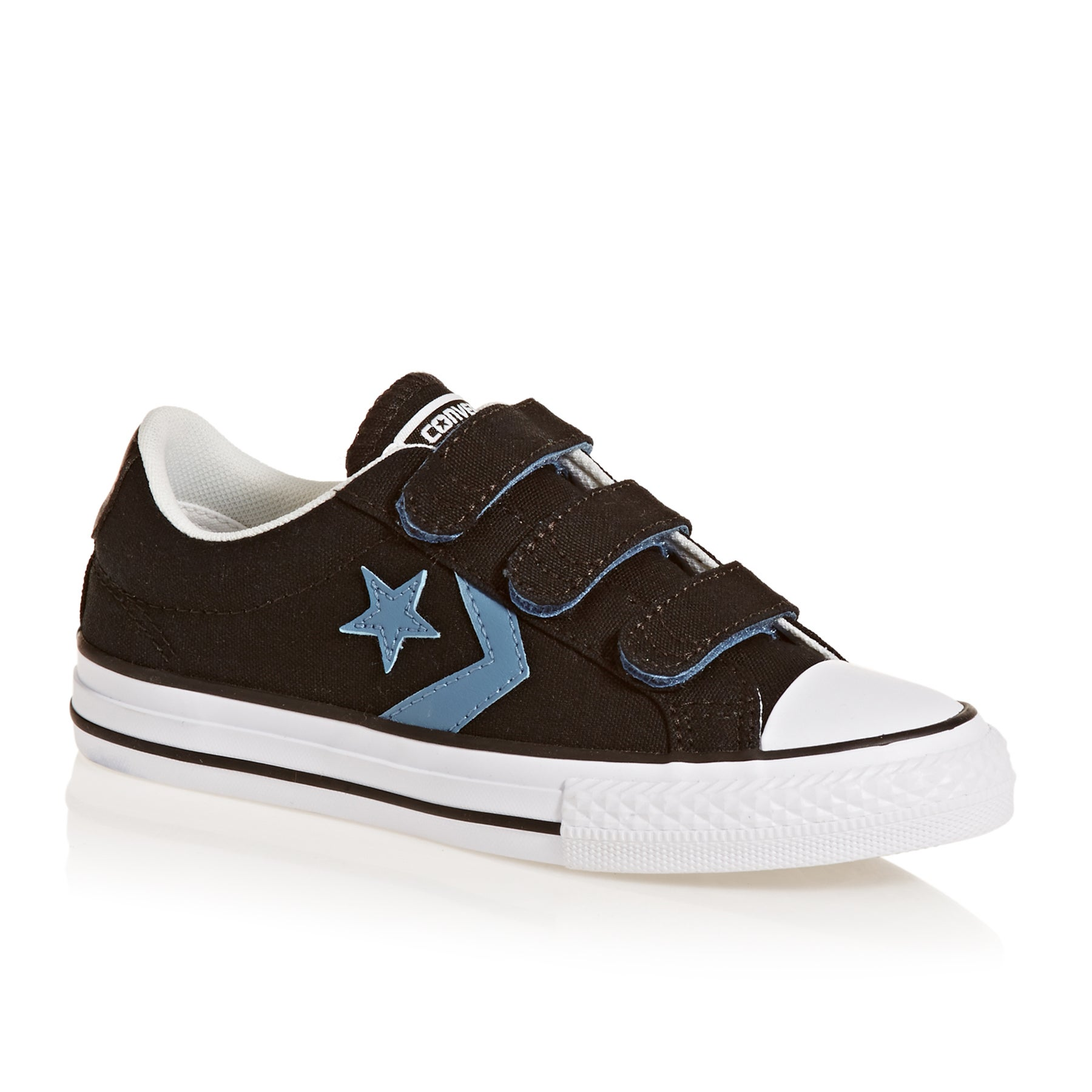 Converse Star Player 3v Ox Junior Boys Shoes - Black/aegean Storm/white