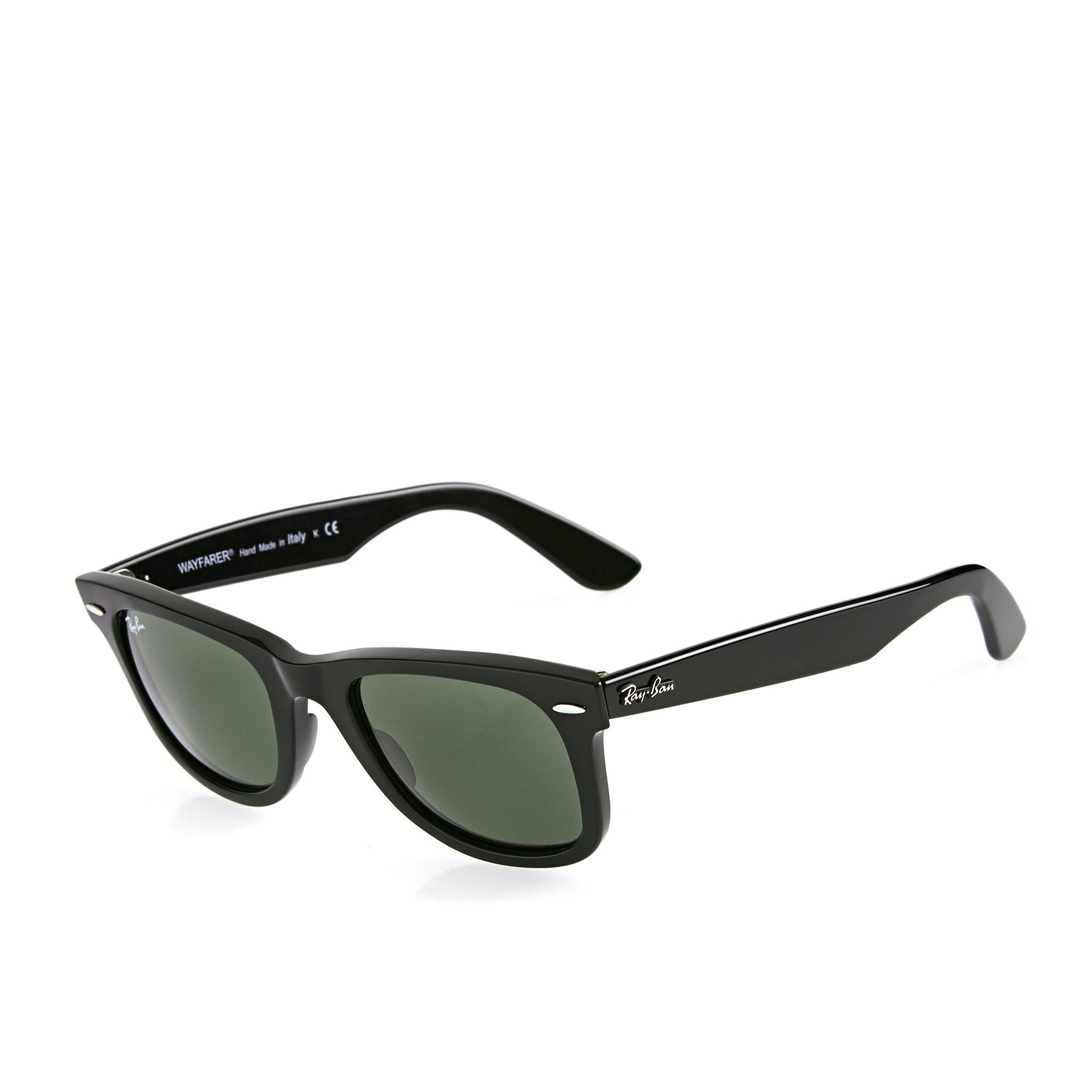 Ray-Ban Wayfarer Sunglasses - Black ~ Crystal Green