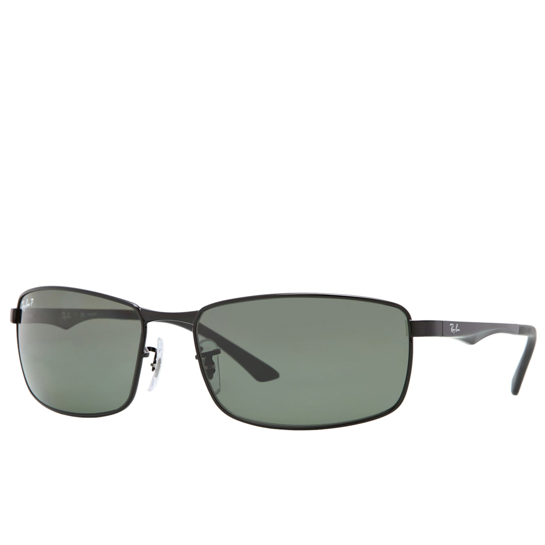 Ray-Ban RB3498 Sunglasses - Polarised   Black ~ Green