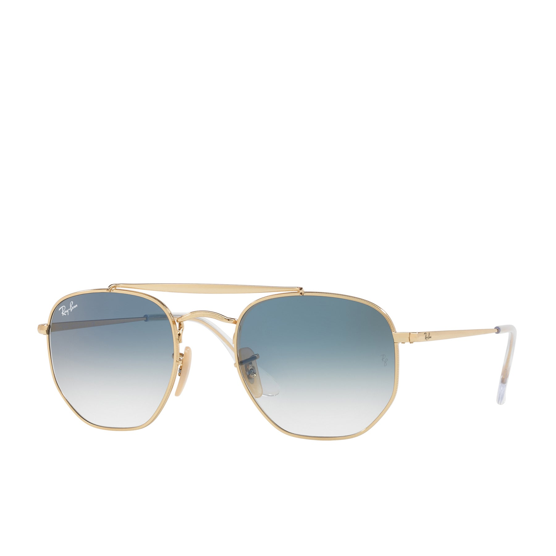 Ray-Ban Marshal Sunglasses - Gold ~ Clear Gradient Blue