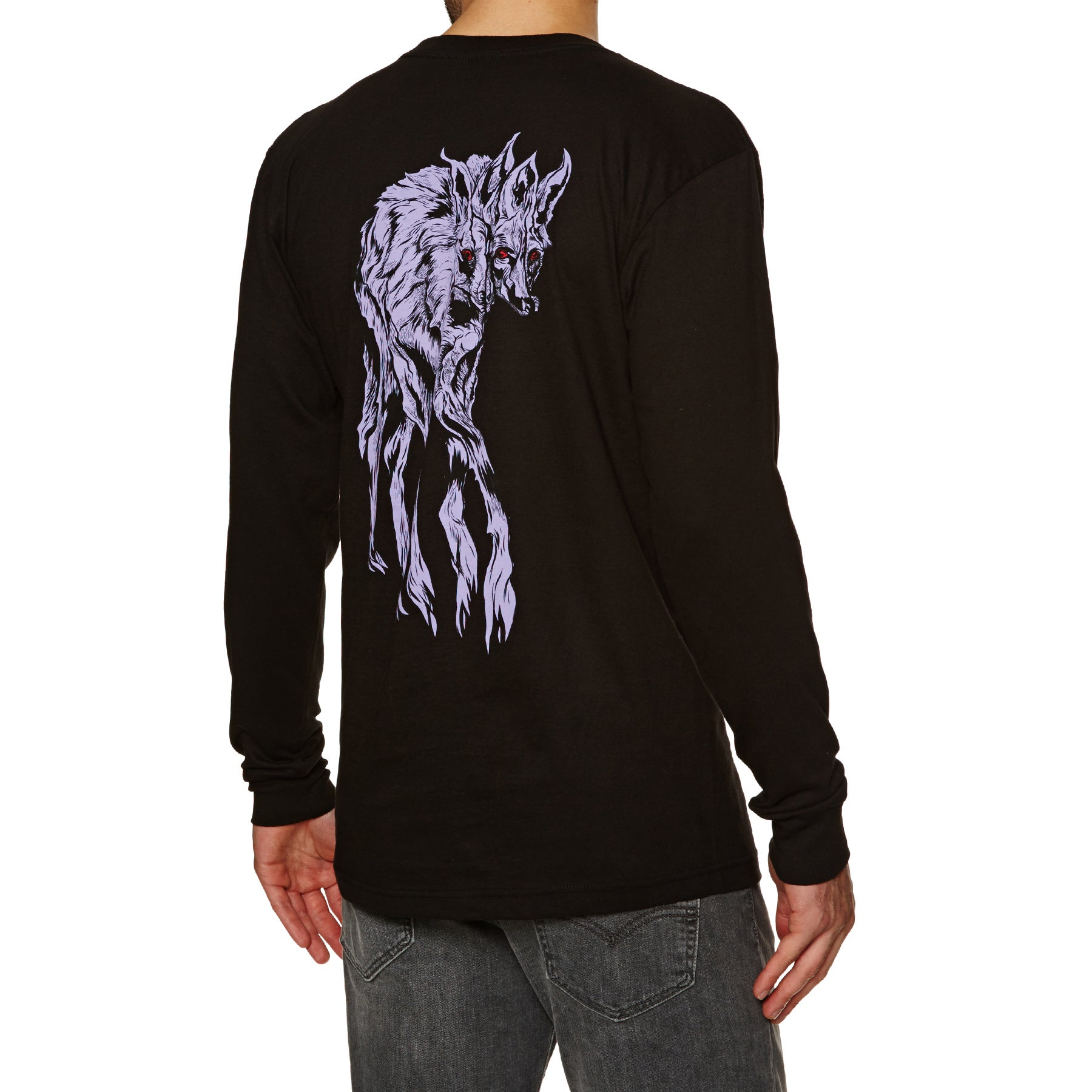 Welcome Maned Woof Long Sleeve T-Shirt - Black
