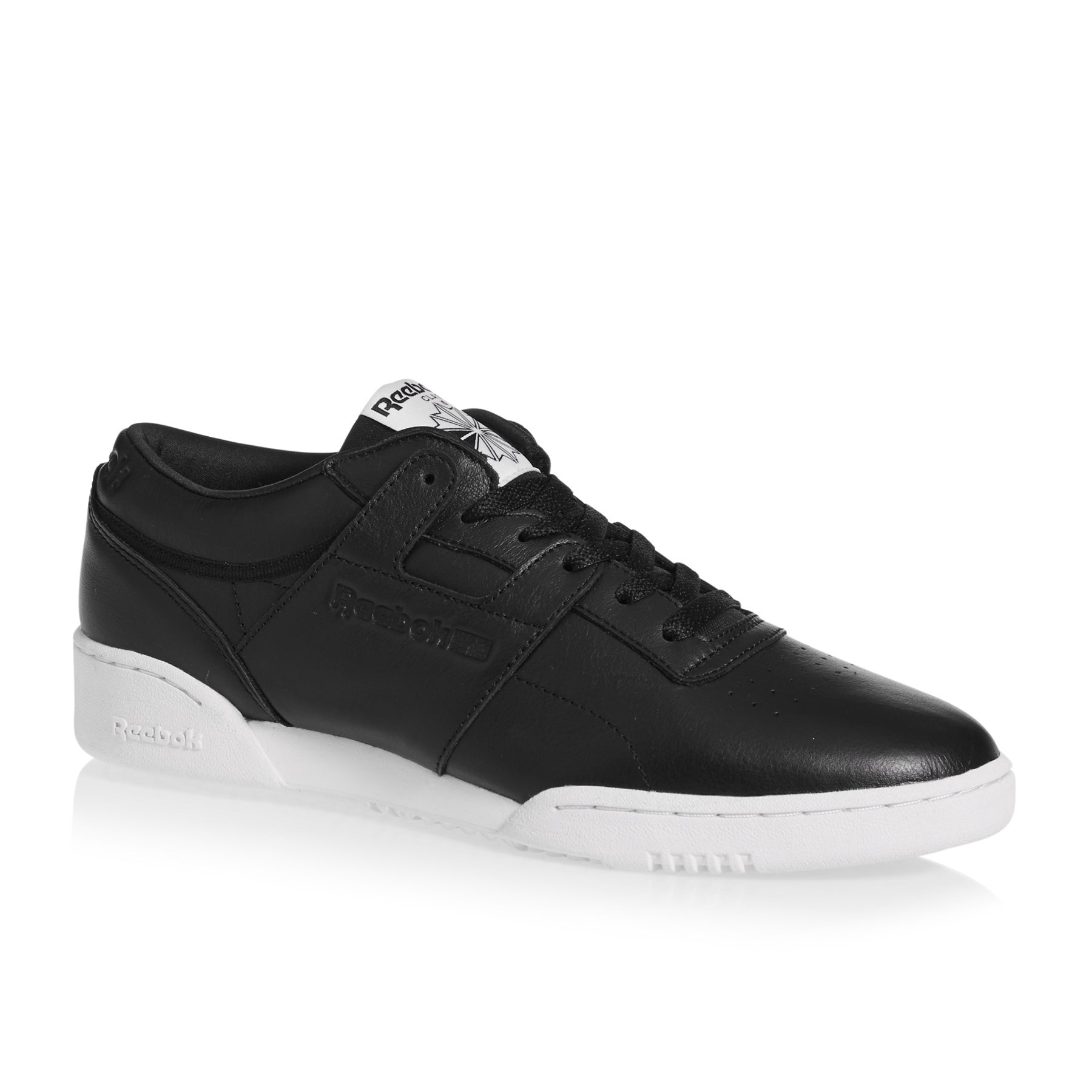 Reebok Workout Lo Clean ID Shoes - Black White
