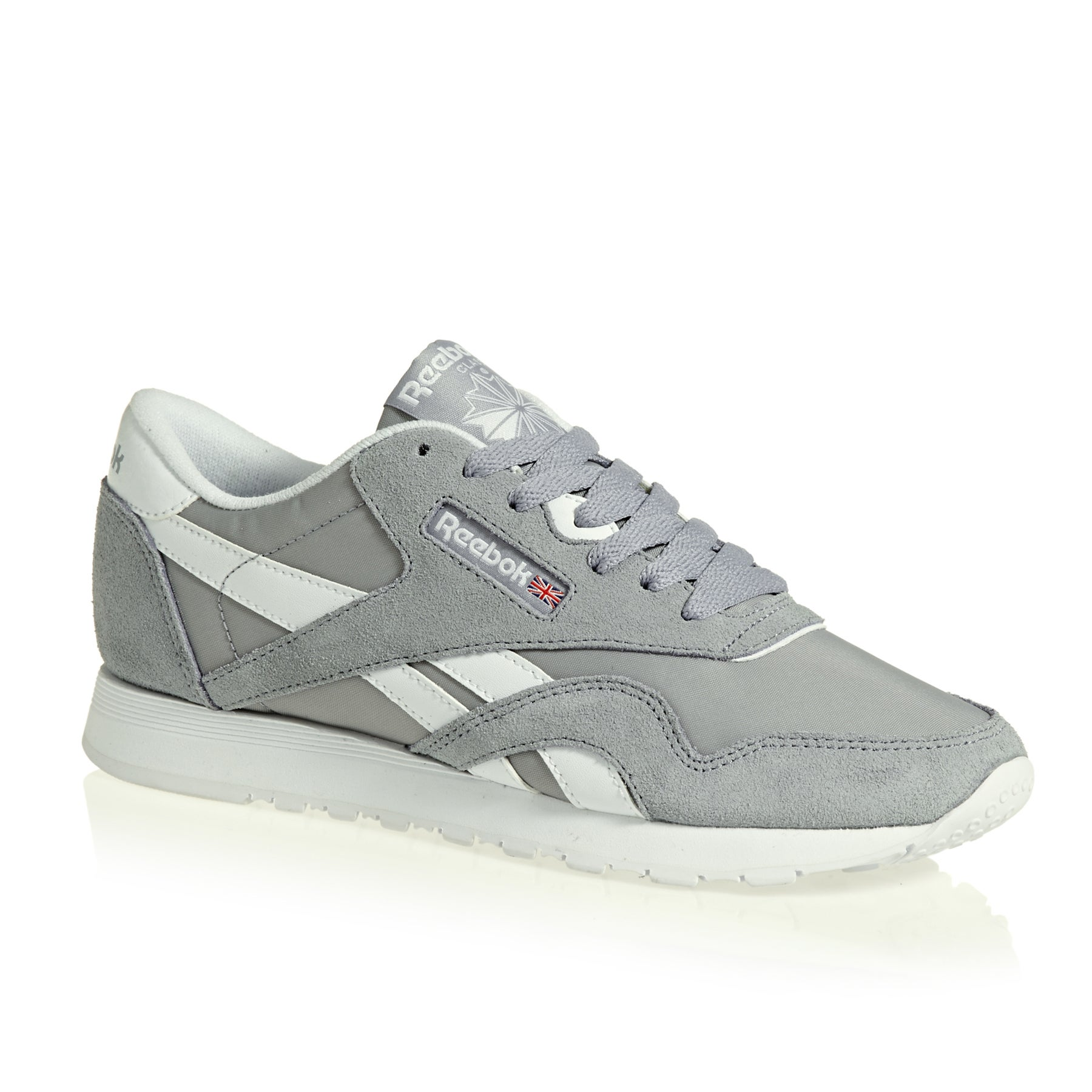 Reebok Classics Nylon Neutrals Womens Shoes - Cool Shadow / White