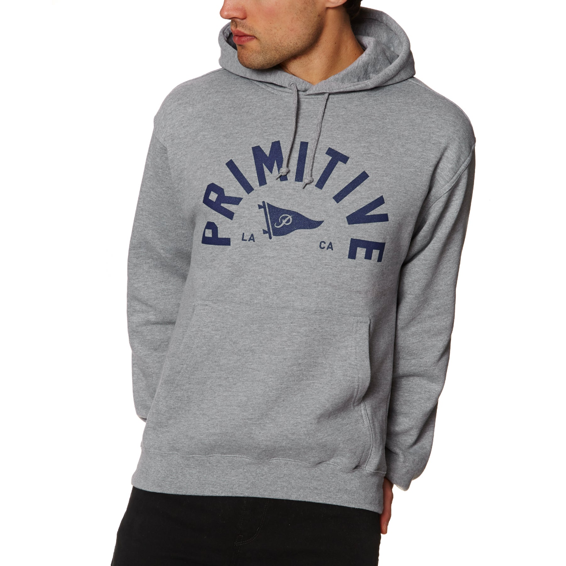 Primitive Big Arch Pennant Pullover Hoody - Grey