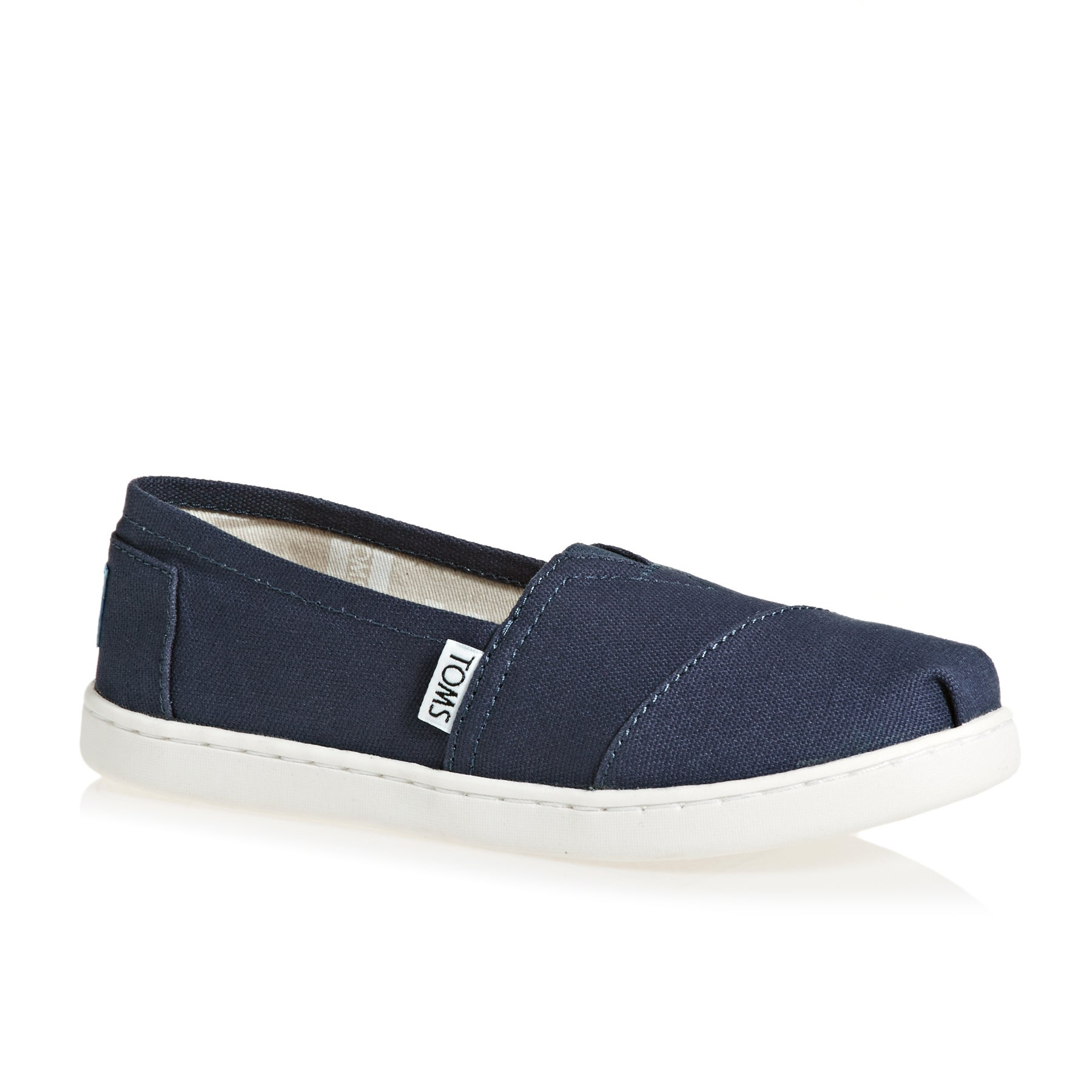 Toms Alpargata Canvas 2 Kids Slip On Shoes - Navy