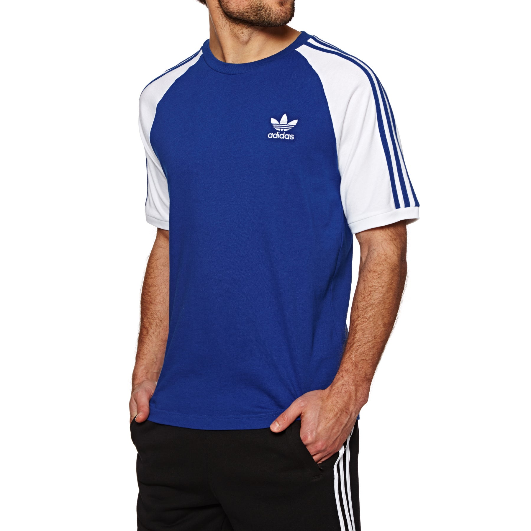 T-Shirt a Manica Corta Adidas Originals 3 Stripe - Collegiate Royal