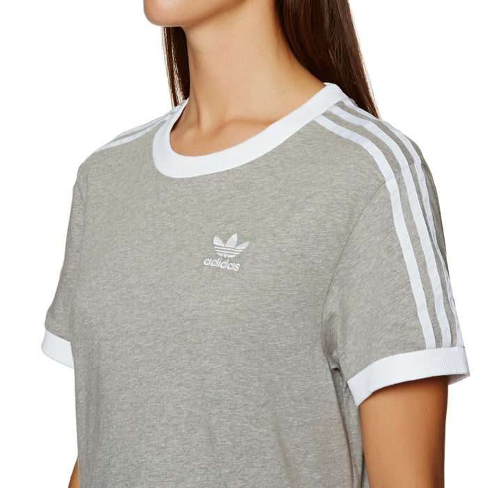 T-Shirt a Manica Corta Donna Adidas Originals 3 Stripe