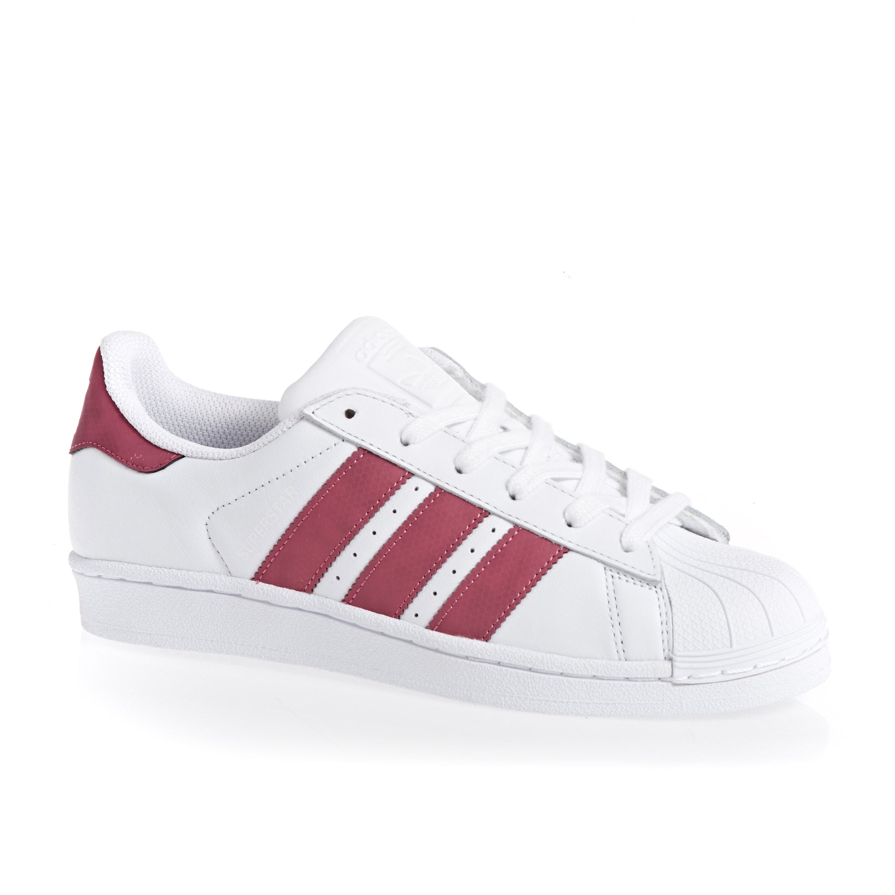 Chaussures Adidas Originals Superstar - White Burgundy