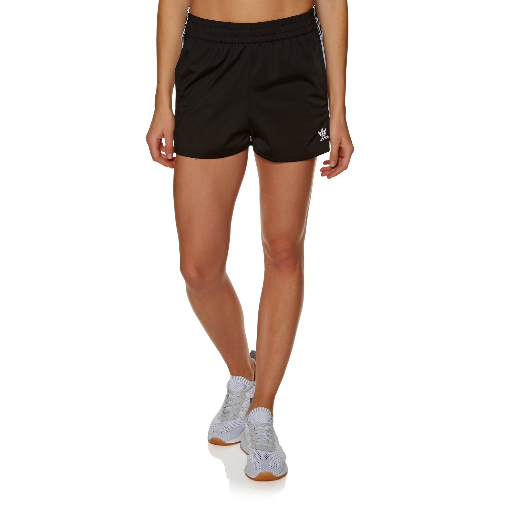 Adidas Originals 3 Stripe Womens Shorts - Black