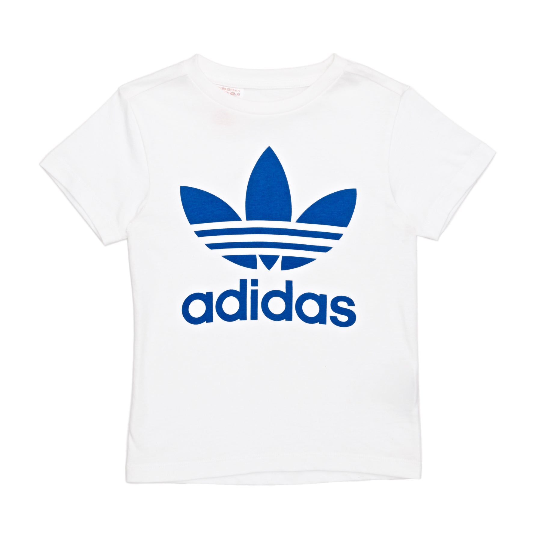 Camiseta de manga corta Boys Adidas Originals Trefoil - White/blue