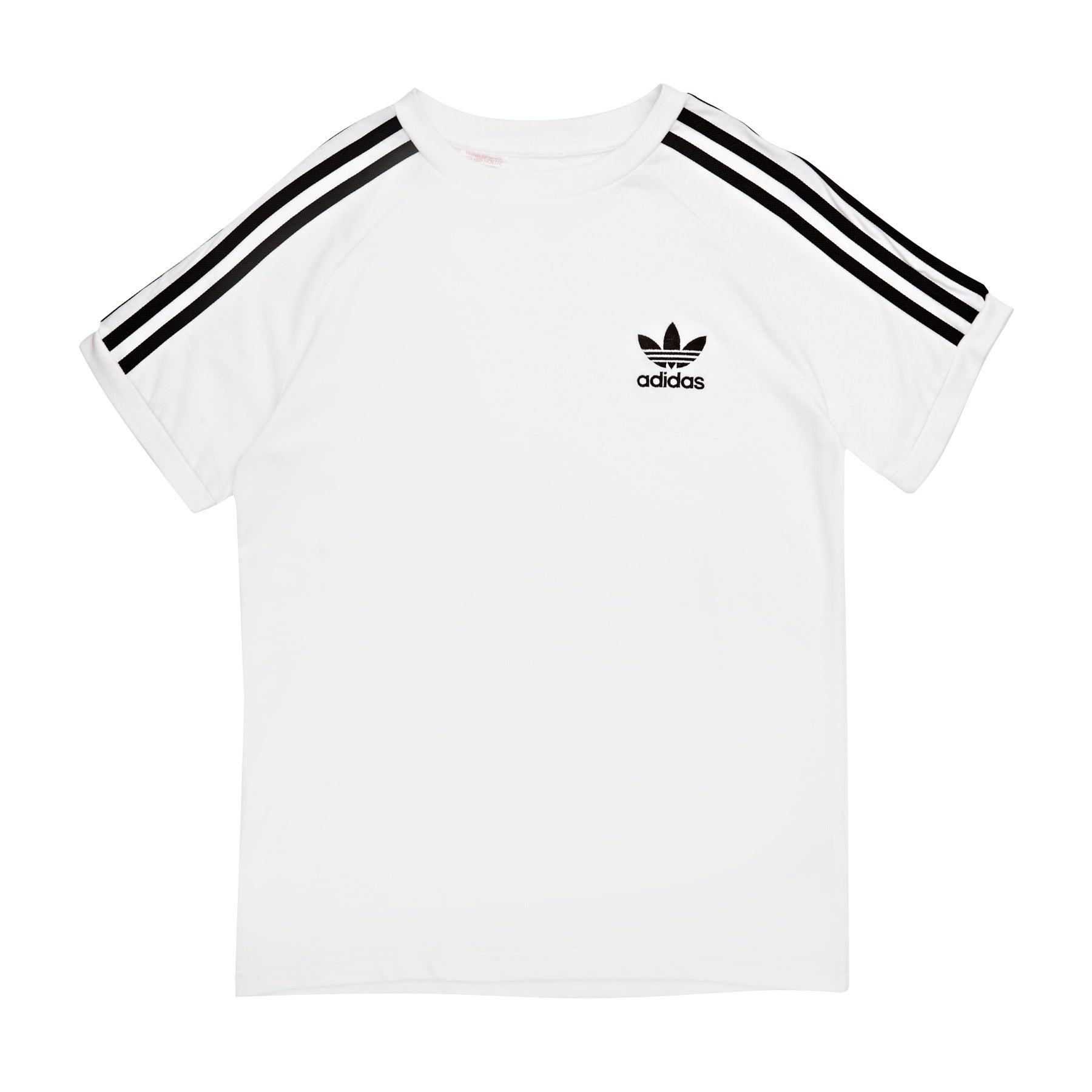 Adidas Originals California Boys Short Sleeve T-Shirt - White Black