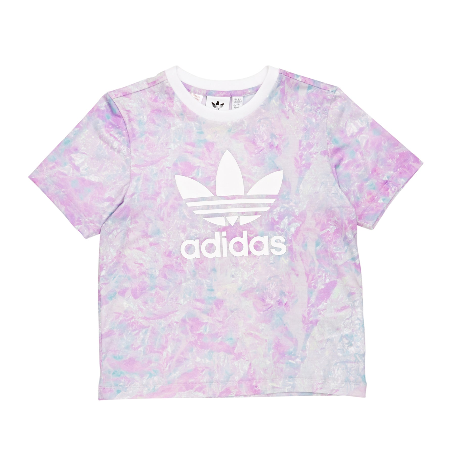 Adidas Originals Graphic Girls Short Sleeve T-Shirt - Multicolor White
