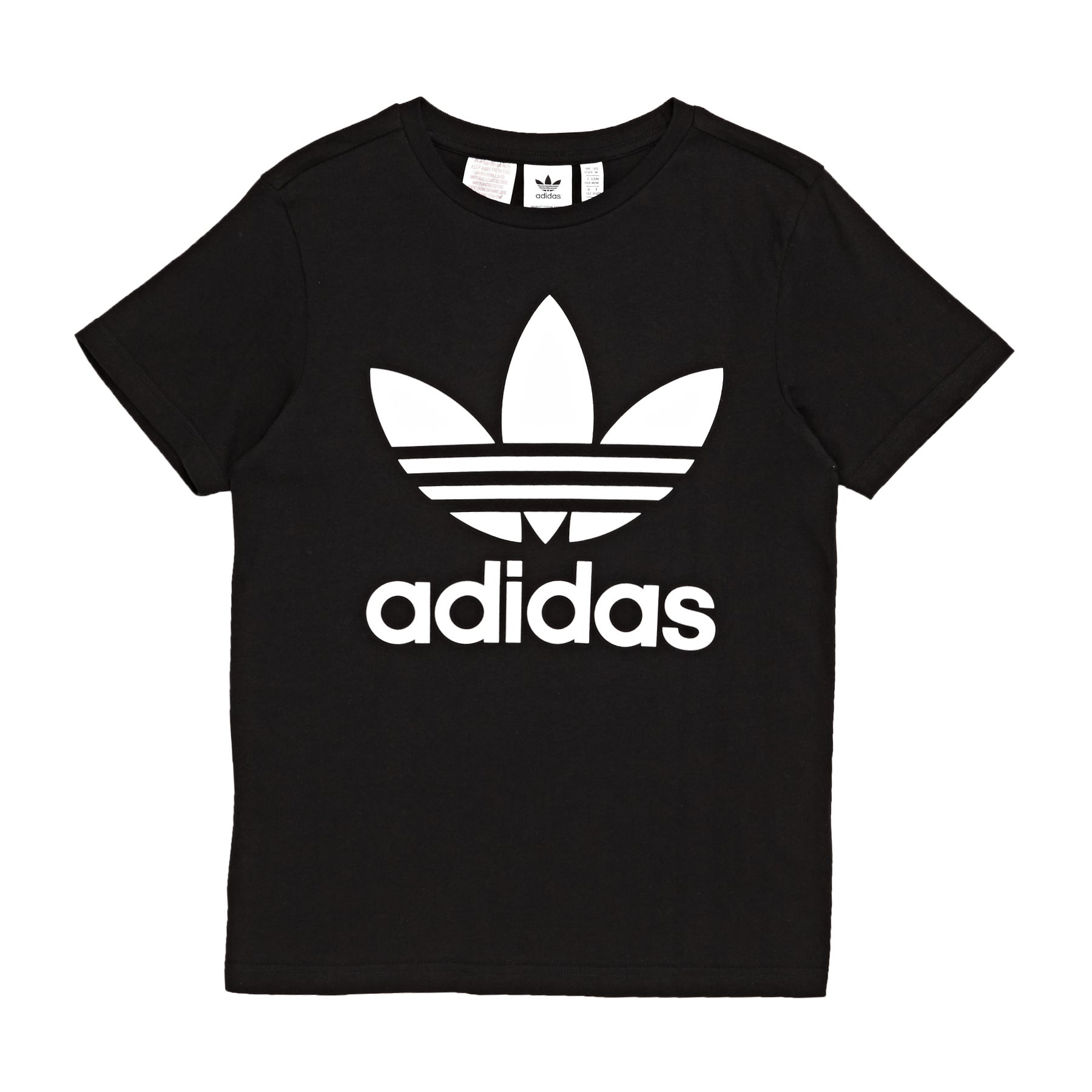 Adidas Originals Trefoil Boys Short Sleeve T-Shirt - Black/white