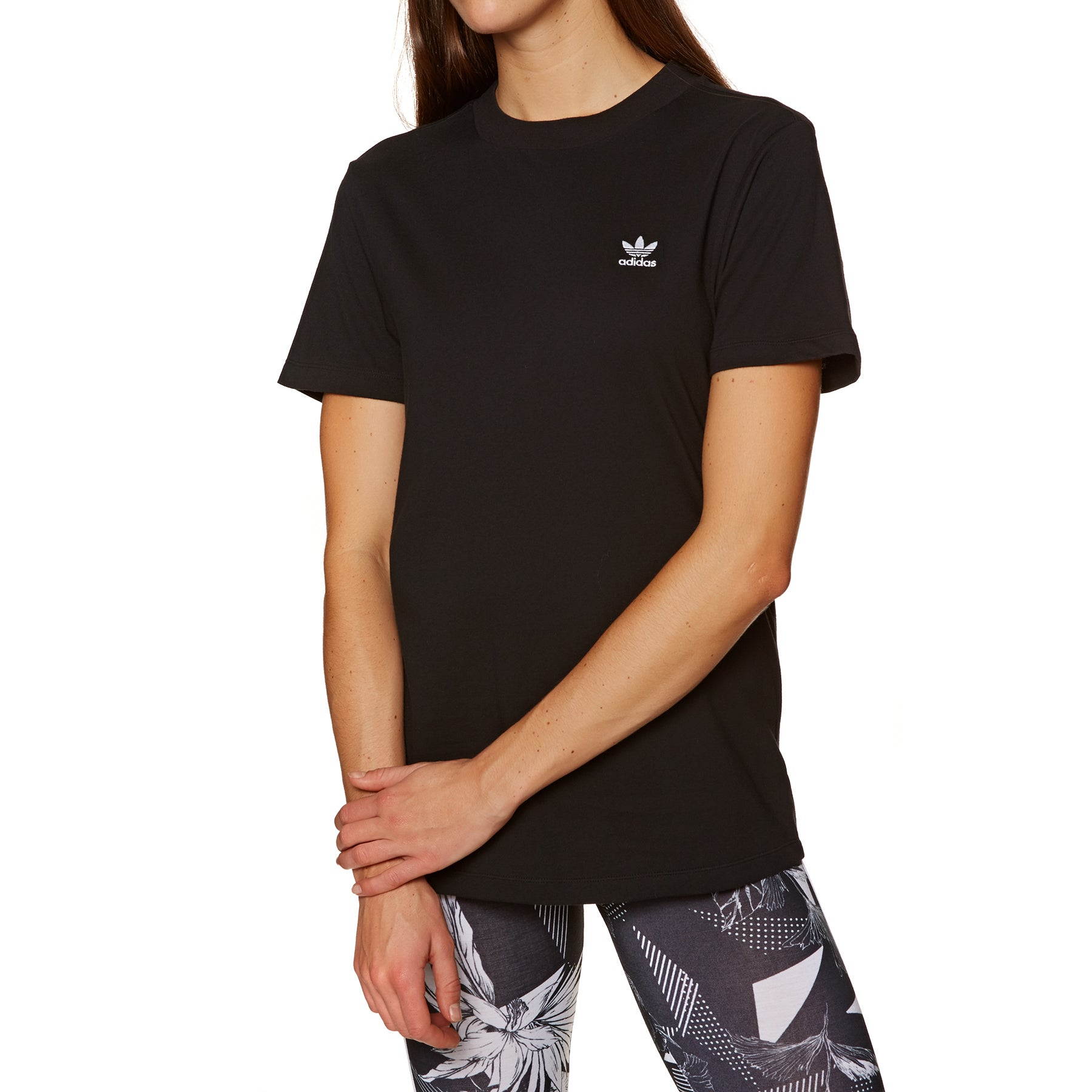 T-Shirt a Manica Corta Donna Adidas Originals Complements - Black