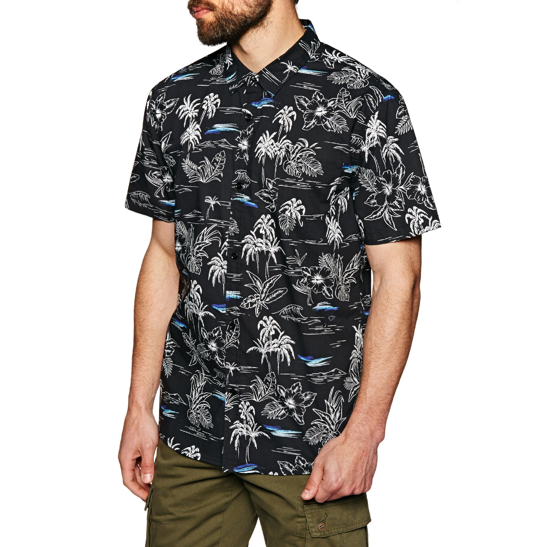 SWELL Inverted Short Sleeve Shirt - Black