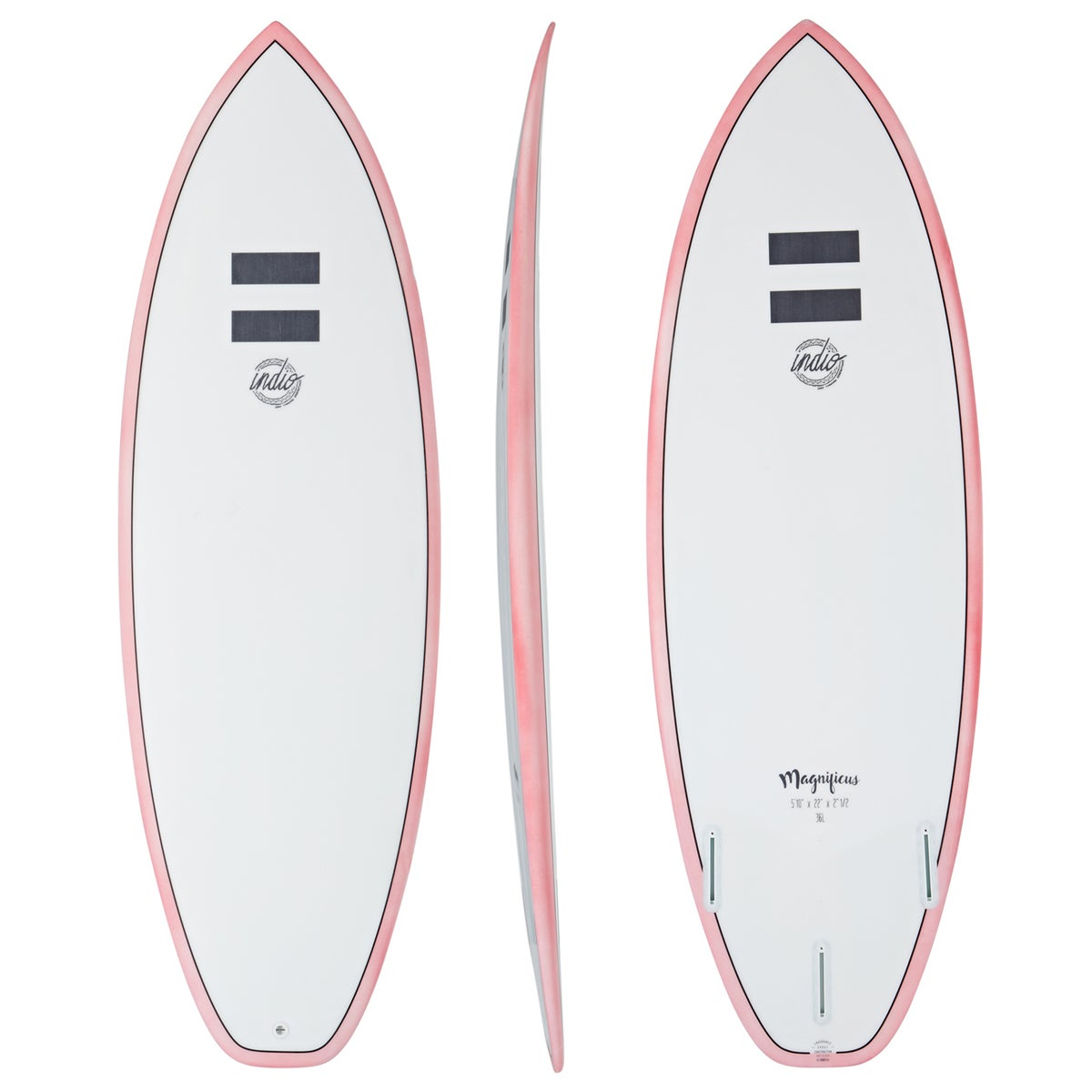 Indio Endurance Magnificus Surfboard - Pinline Red