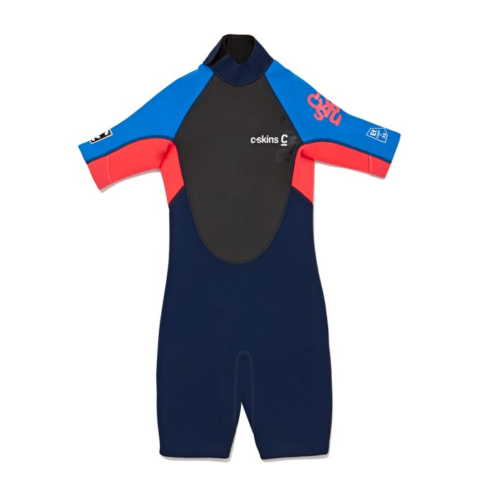 C-Skins Girls Element 3/2mm Back Zip Shorty Girls Wetsuit