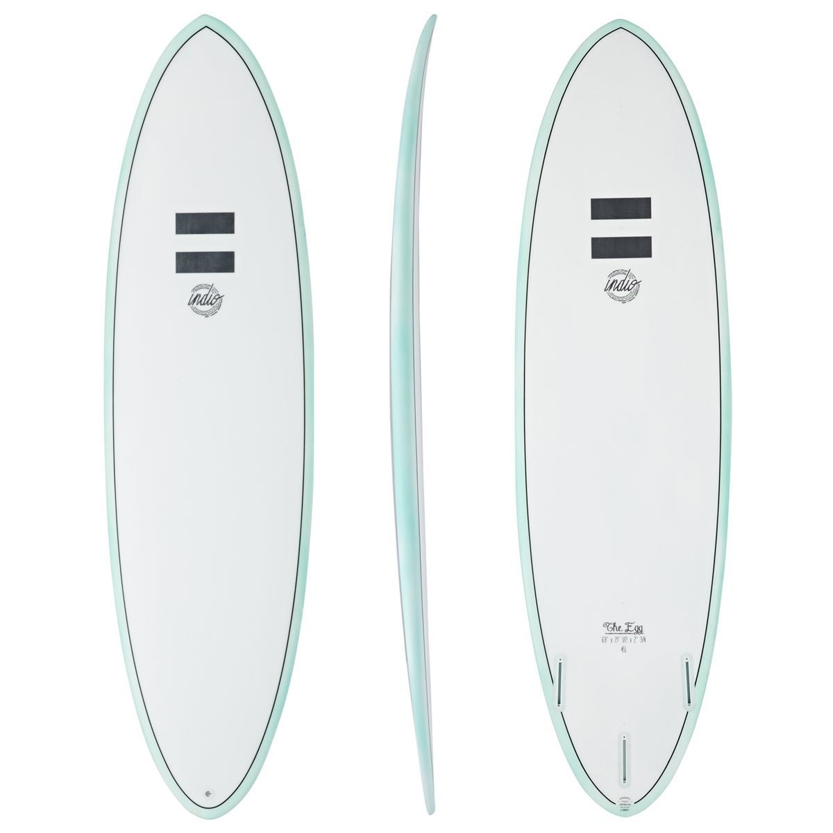 Indio Endurance The Egg Surfboard - Pinline Mint
