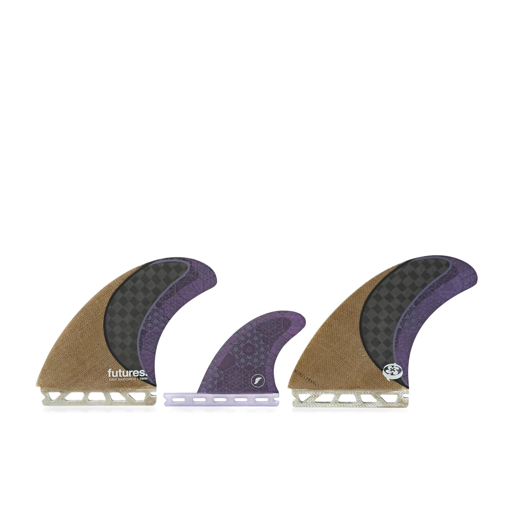 Futures Rasta Honeycomb Twin Fin - Jute Carbon Purple