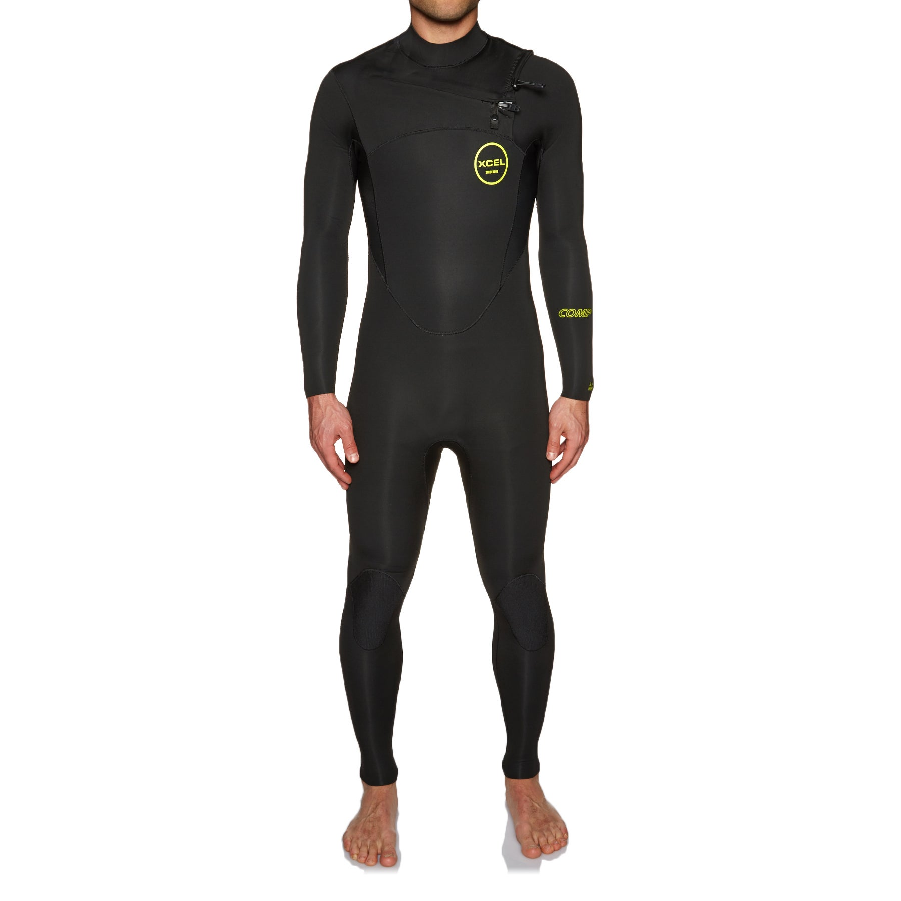 Xcel Comp 3/2mm 2018 Chest Zip Wetsuit - Black