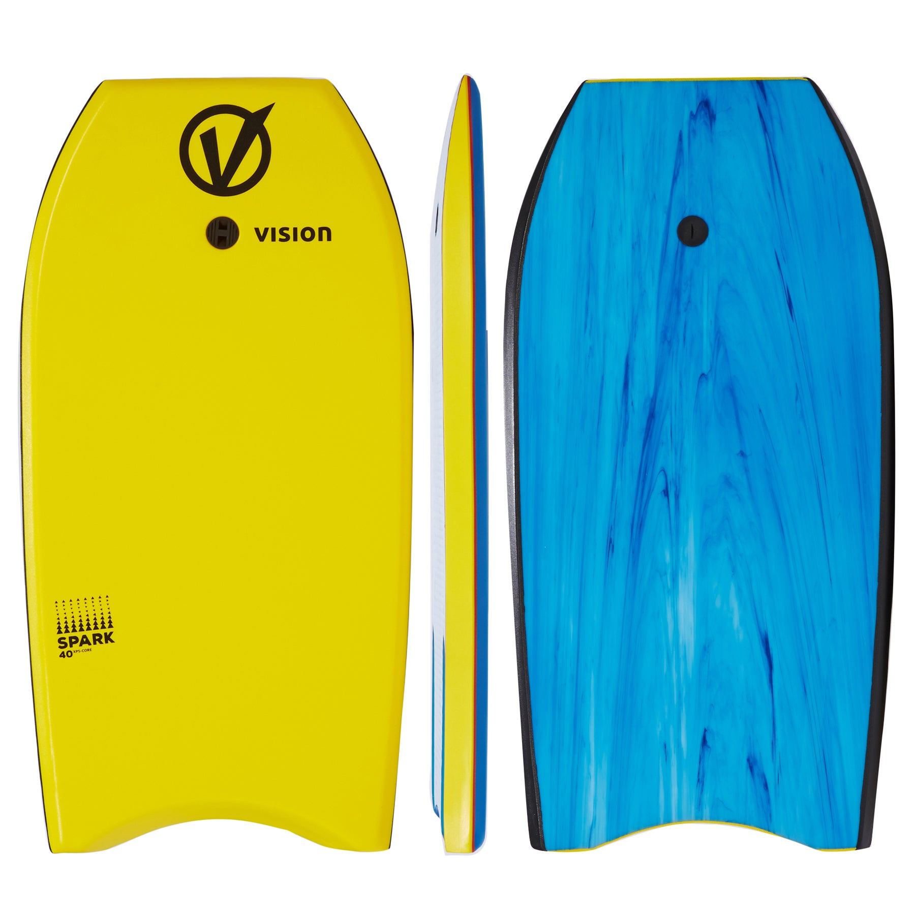 Vision Spark Bodyboard - Yellow Black