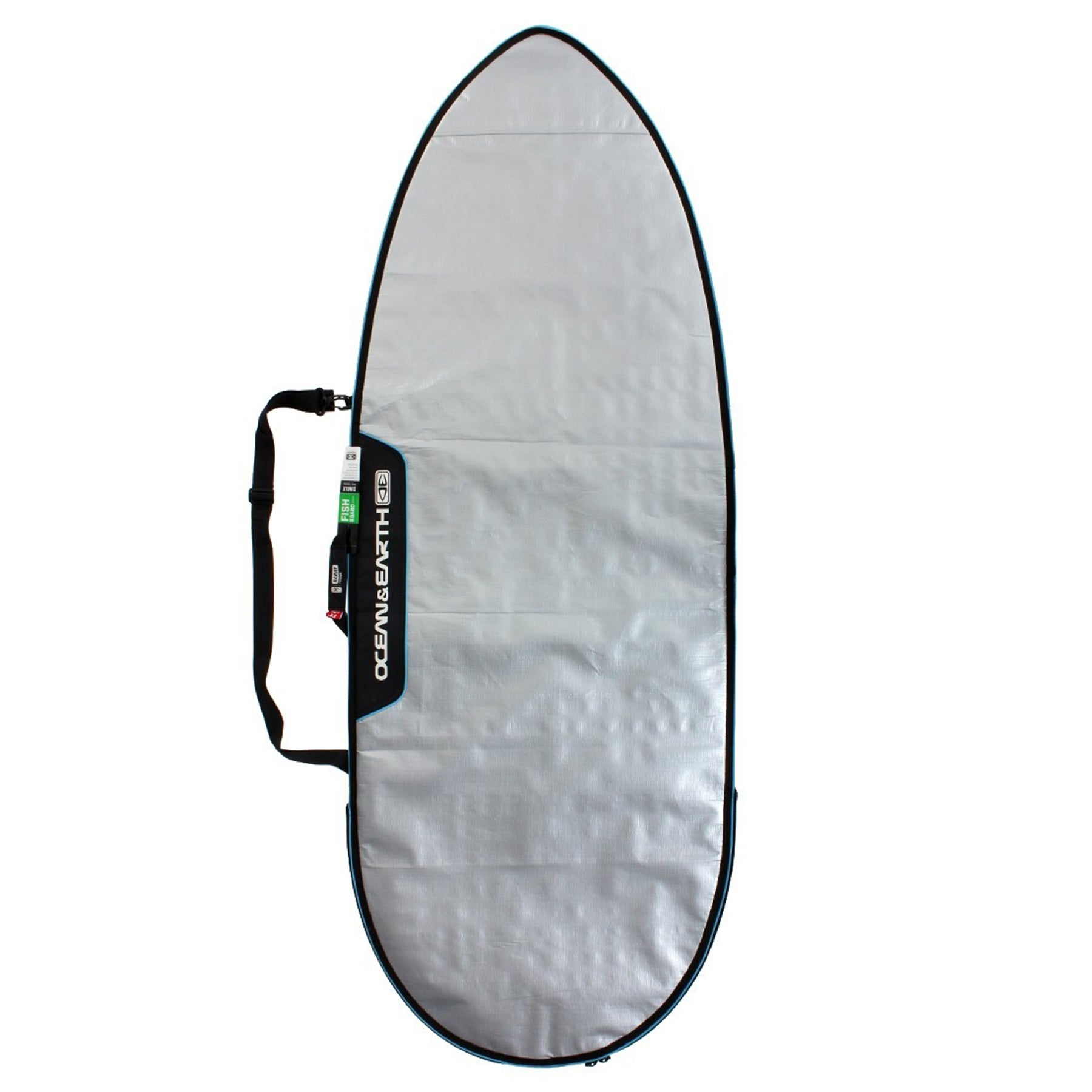 Ocean and Earth Barry Basic Fish Surfboard Bag - Silver/ Blue