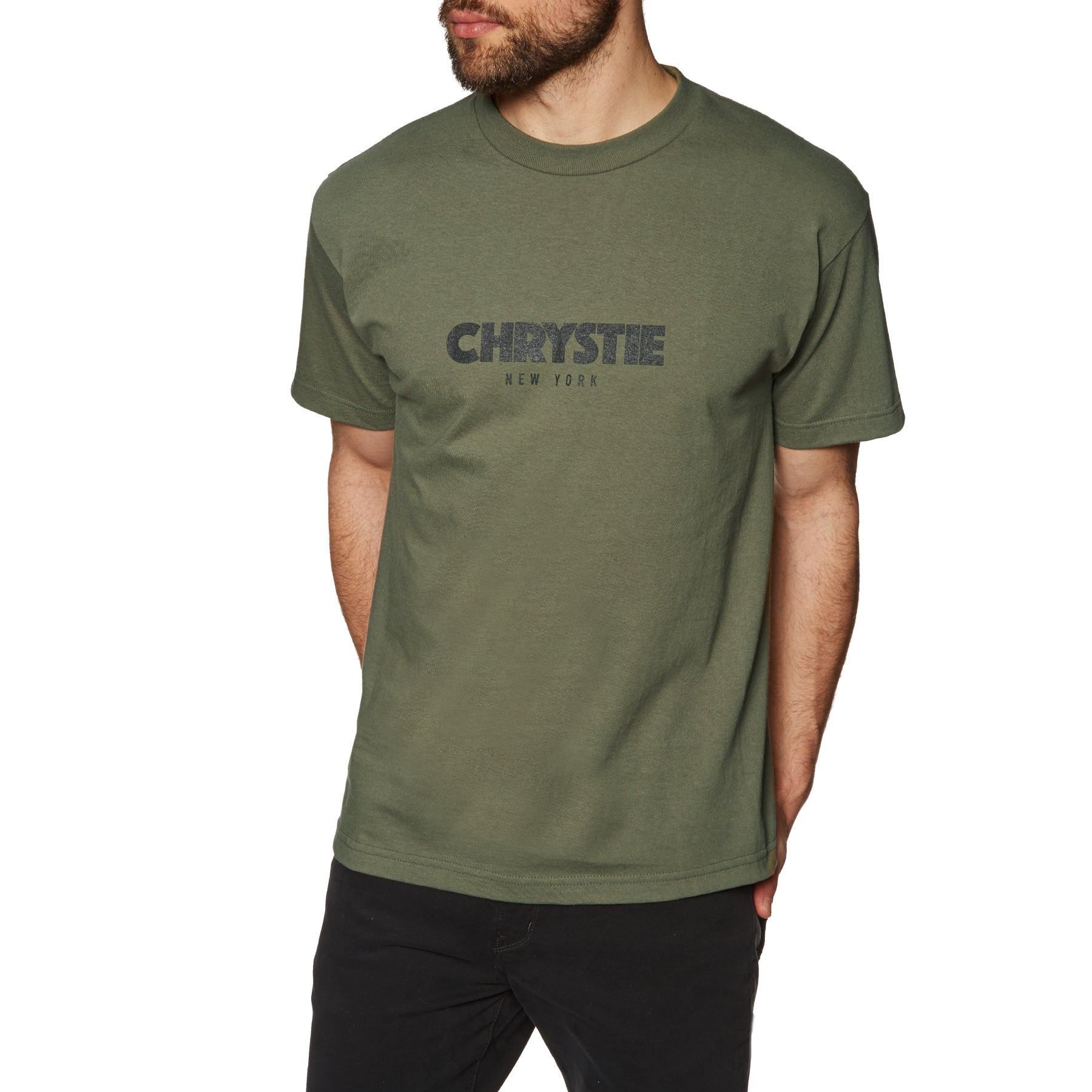 T-Shirt à Manche Courte Chrystie Logo - Military Green