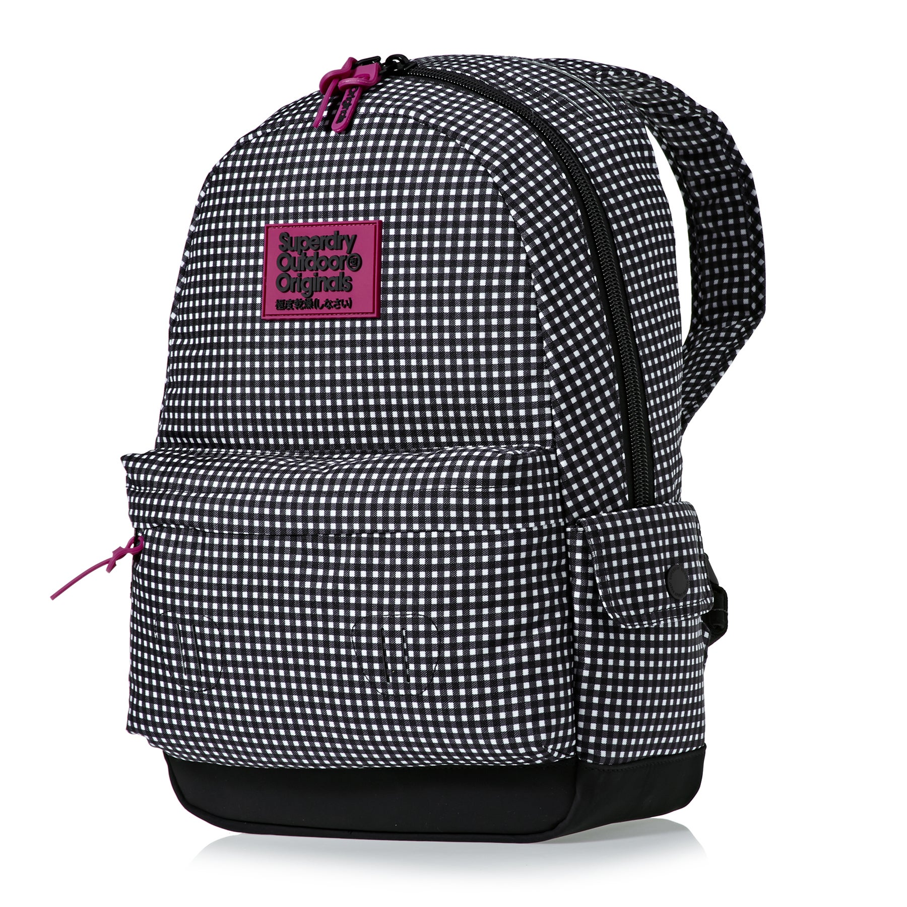 Superdry Print Edition Montana Womens Backpack - Black Gingham