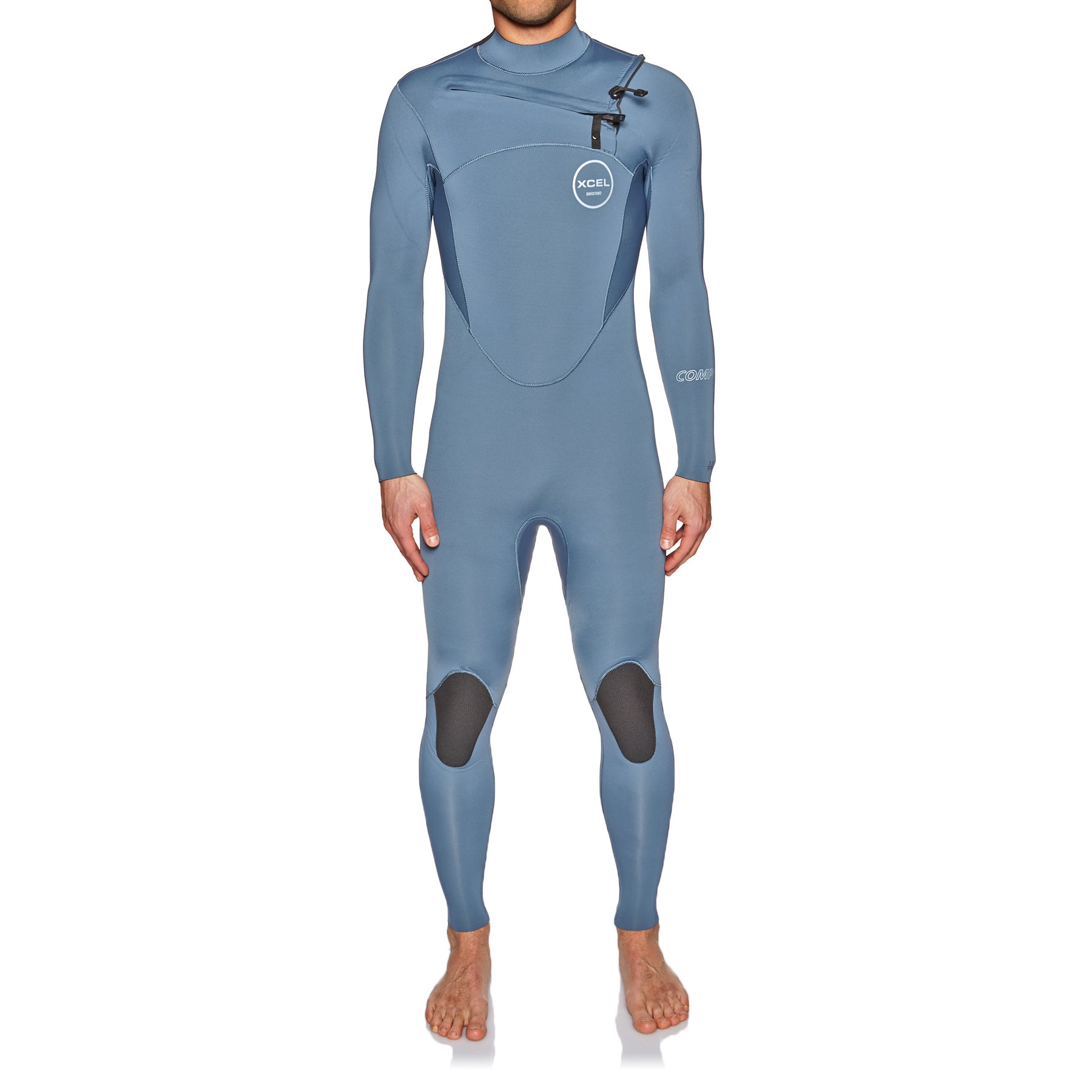 Xcel Comp 3/2mm 2018 Chest Zip Wetsuit - Pewter