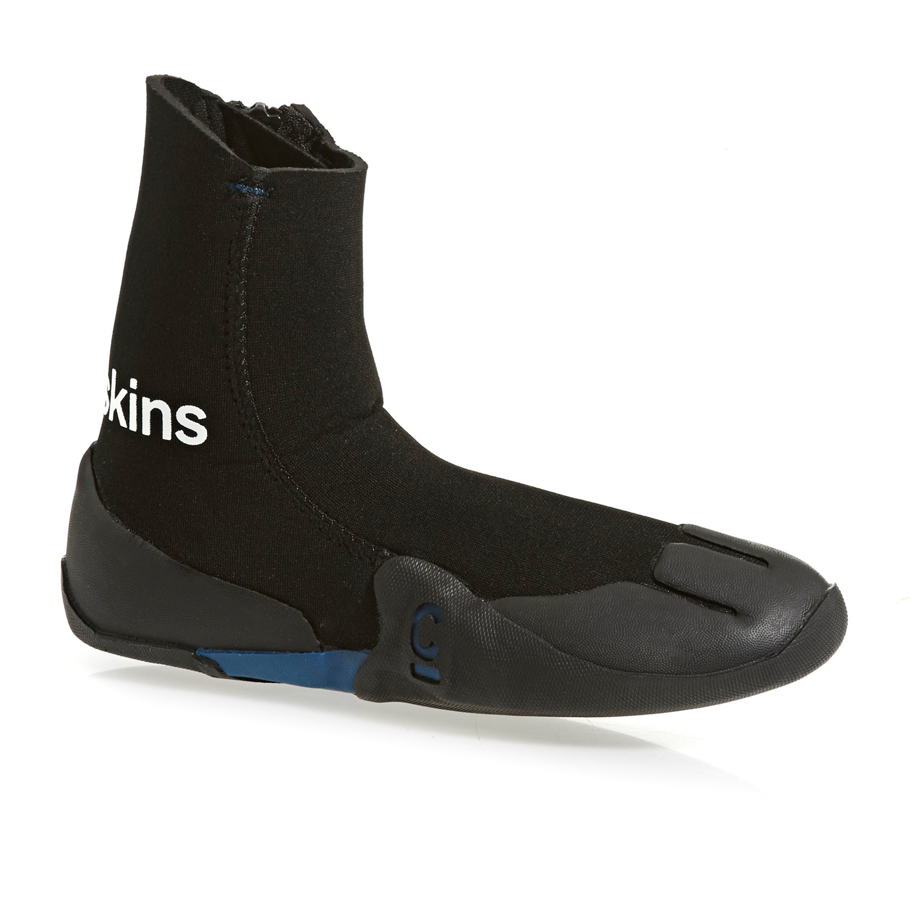 C-Skins Legend 3/5mm GBS Zipped Round Toe Kids Wetsuit Boots - Black Ocean