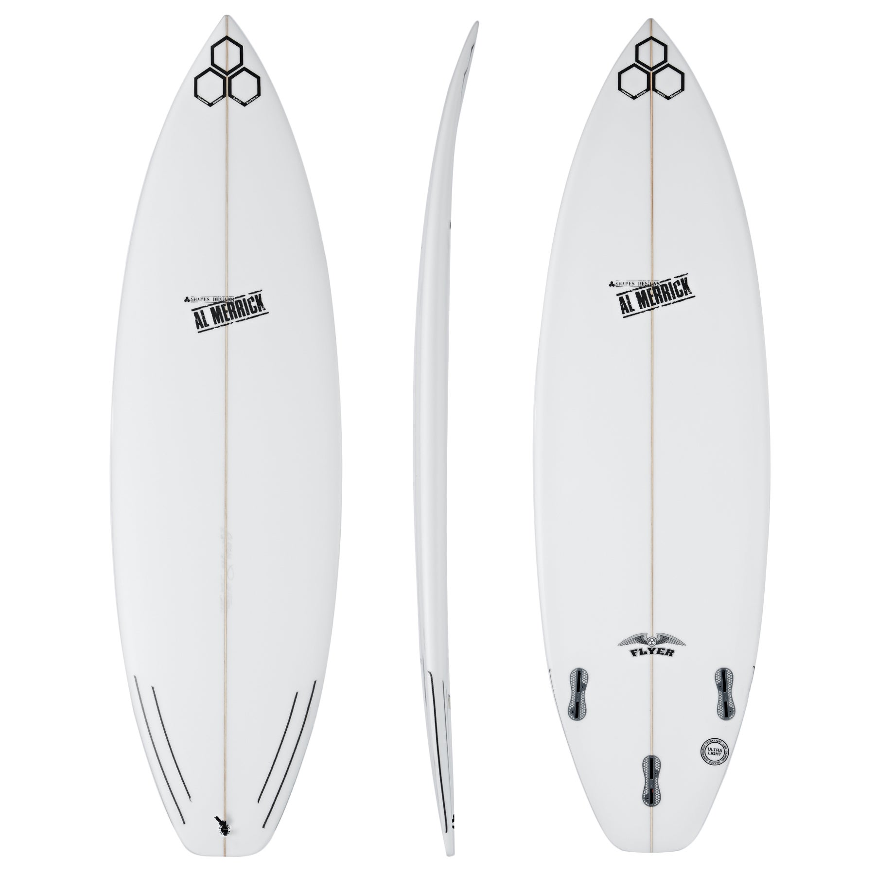 Surfboard Channel Islands OG Flyer FCS II Thruster - White