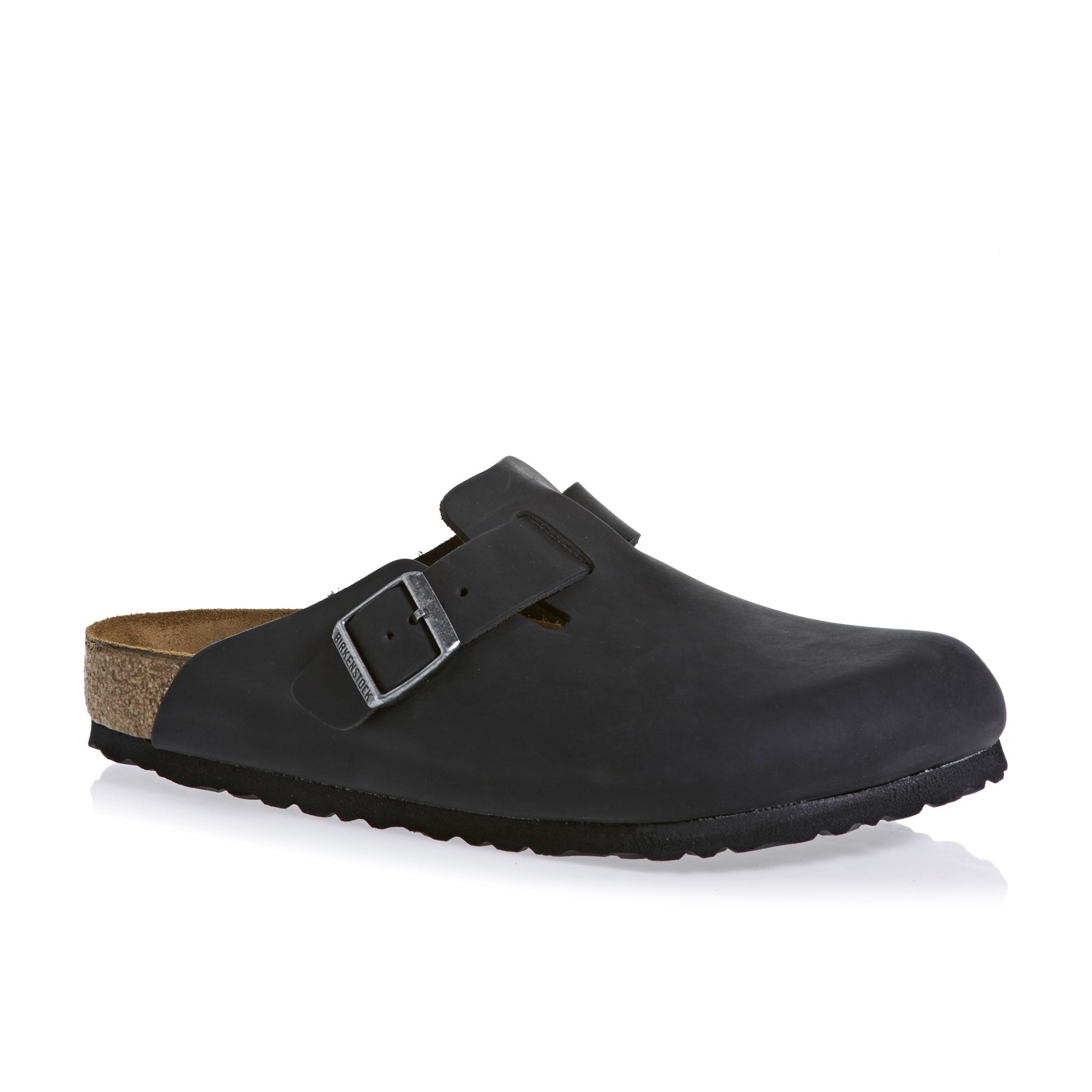 Birkenstock Boston Oiled Leather Slip On Shoes - Black Core
