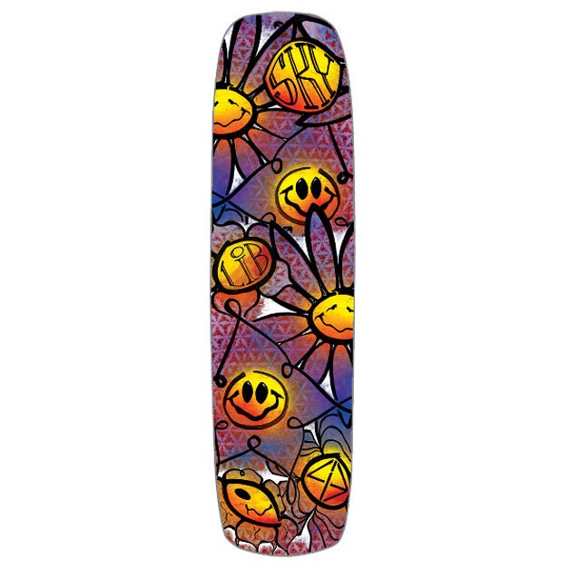 Lib Tech Sky High Exo Skateboard Deck - Multicolour