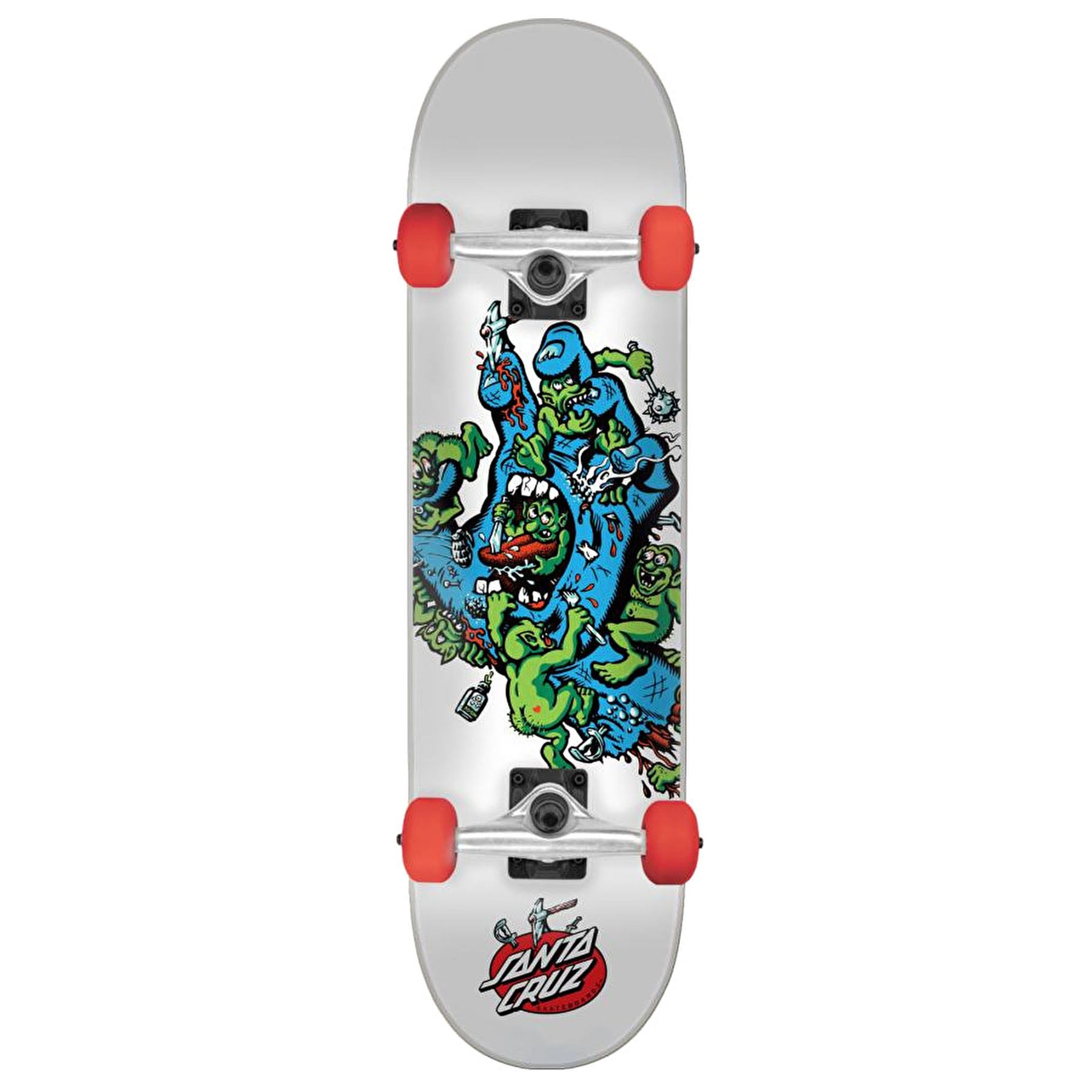 Patinete Santa Cruz Gremlin Patrol 7.25in - White Blue