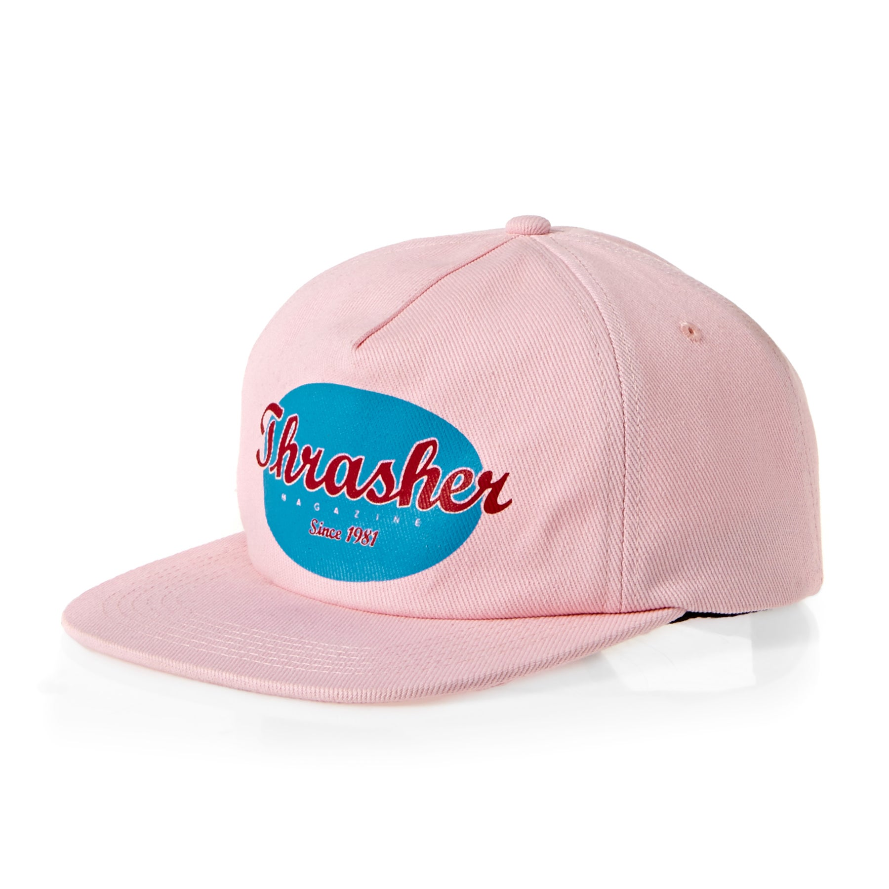 15ee1a8fc6a Thrasher Oval Snapback Cap available from Surfdome